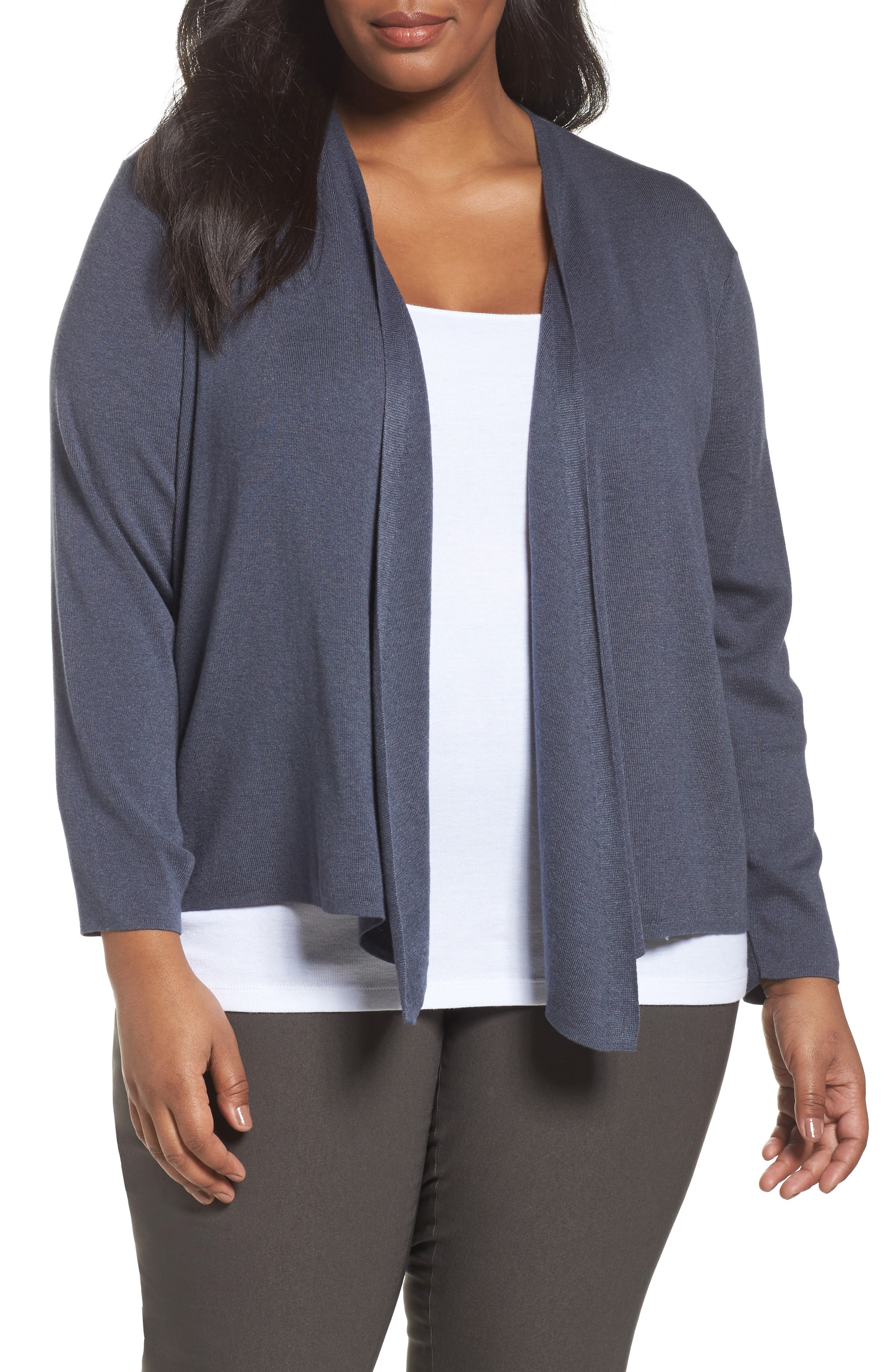 Alternate Image 1 Selected - NIC+ZOE 4-Way Convertible Cardigan (Plus Size)