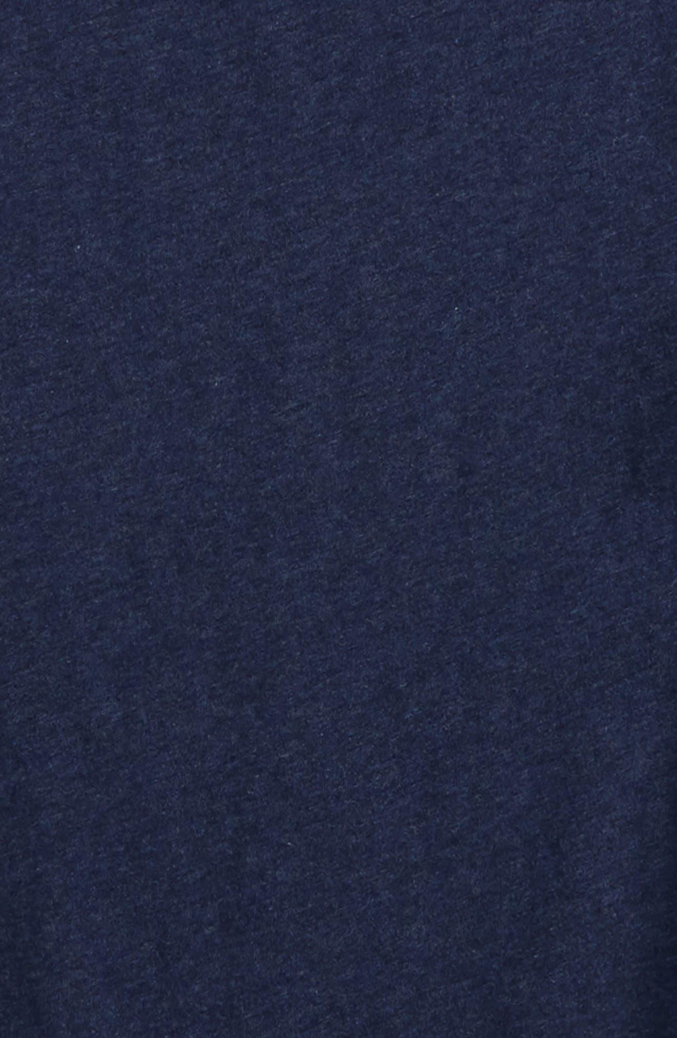 Woven Split Back Shirt,                             Alternate thumbnail 3, color,                             Navy Peacoat Heather