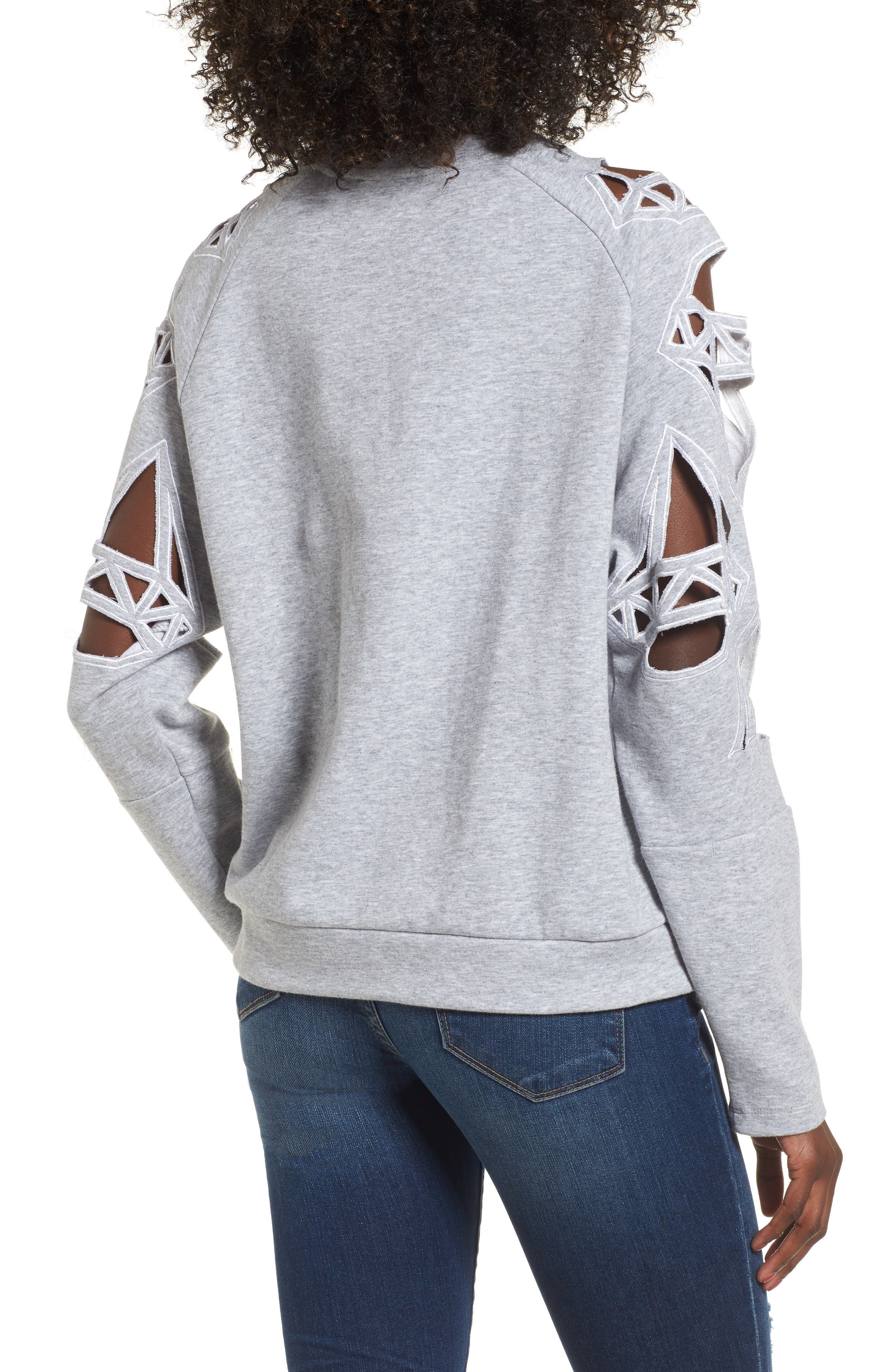 Alternate Image 2  - Supertrash Taffic Cutout Sweatshirt