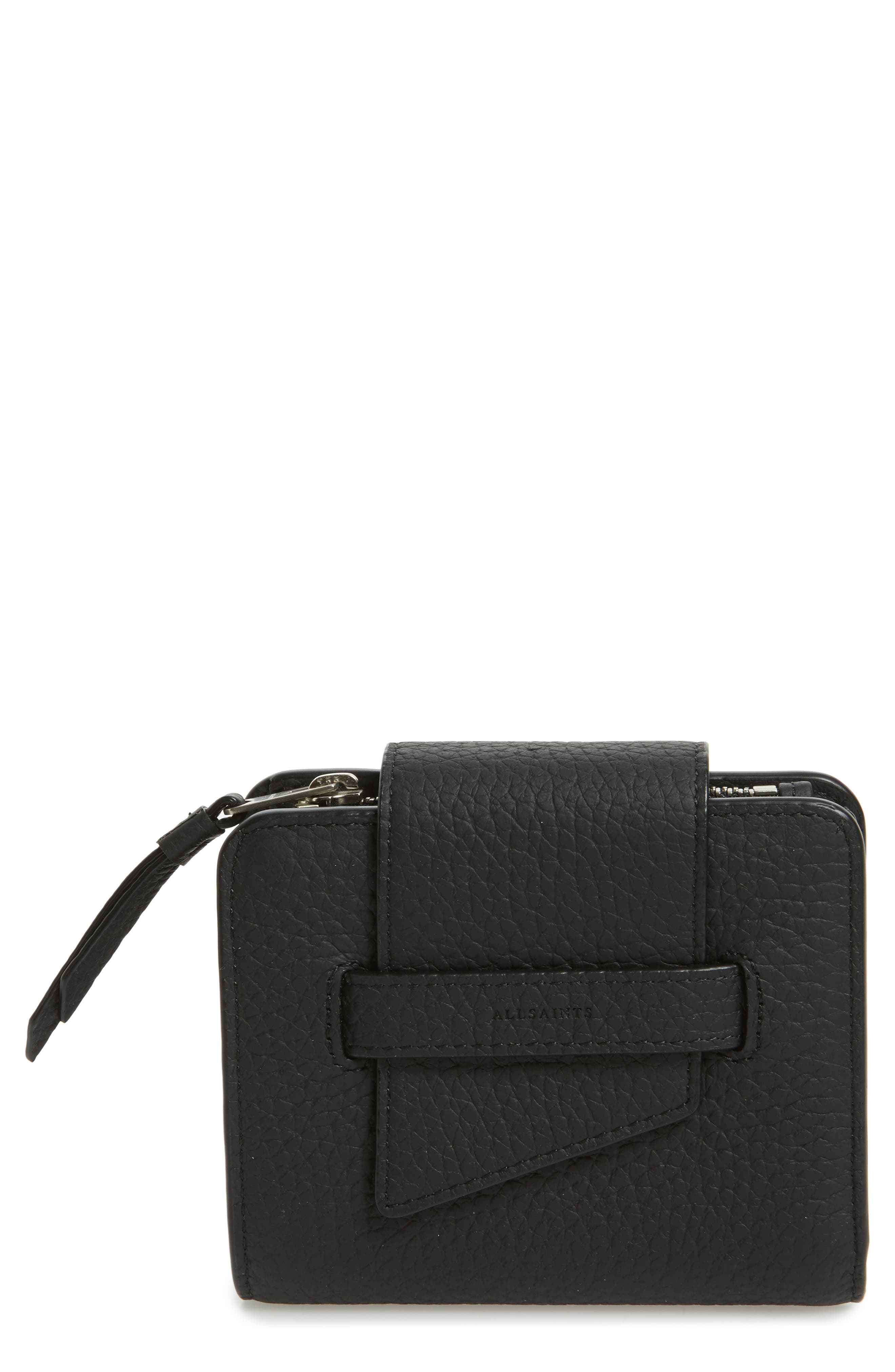 Main Image - ALLSAINTS Small Ray Leather Wallet