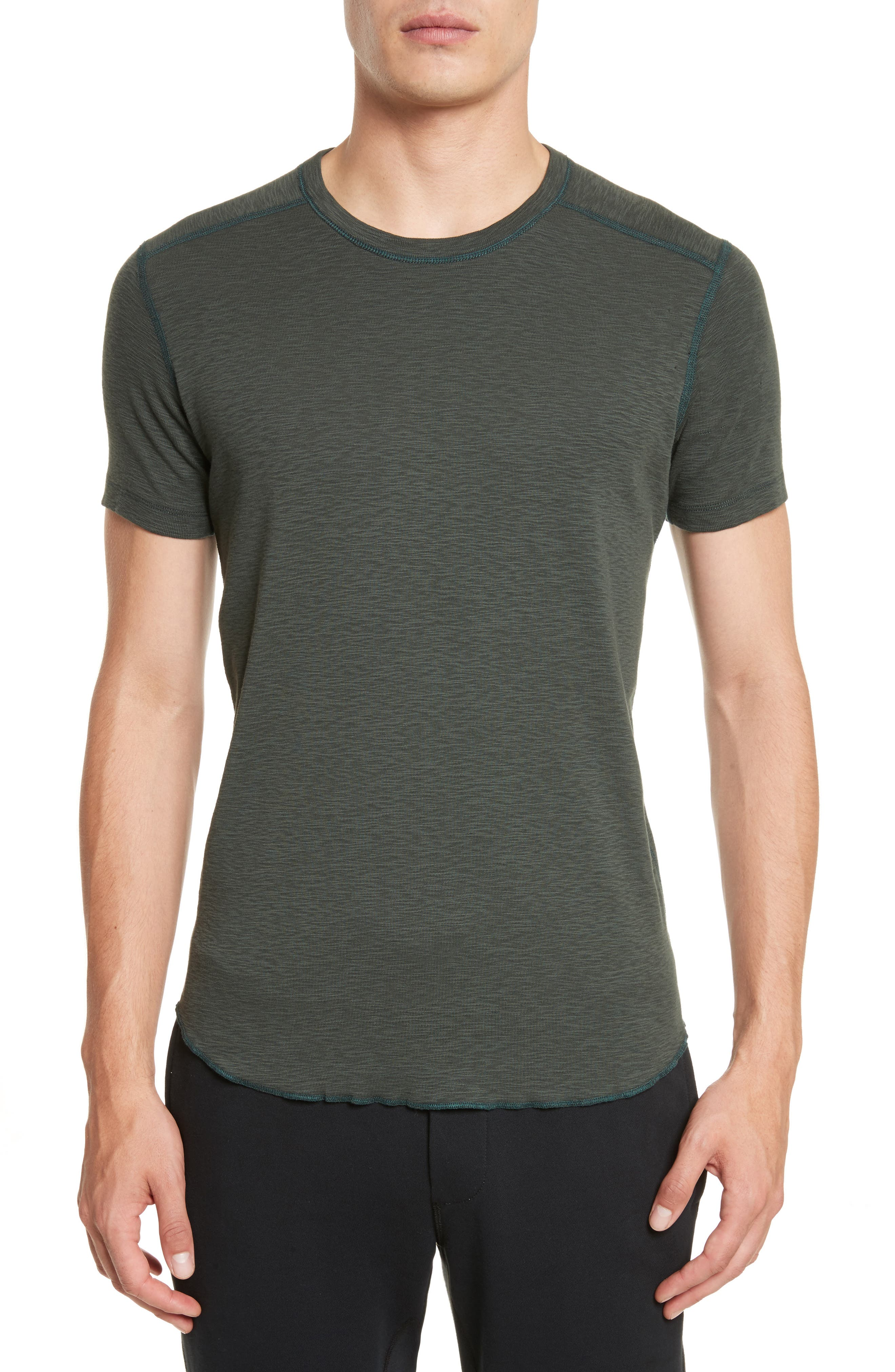 Alternate Image 1 Selected - wings + horns Ribbed Slub Cotton T-Shirt