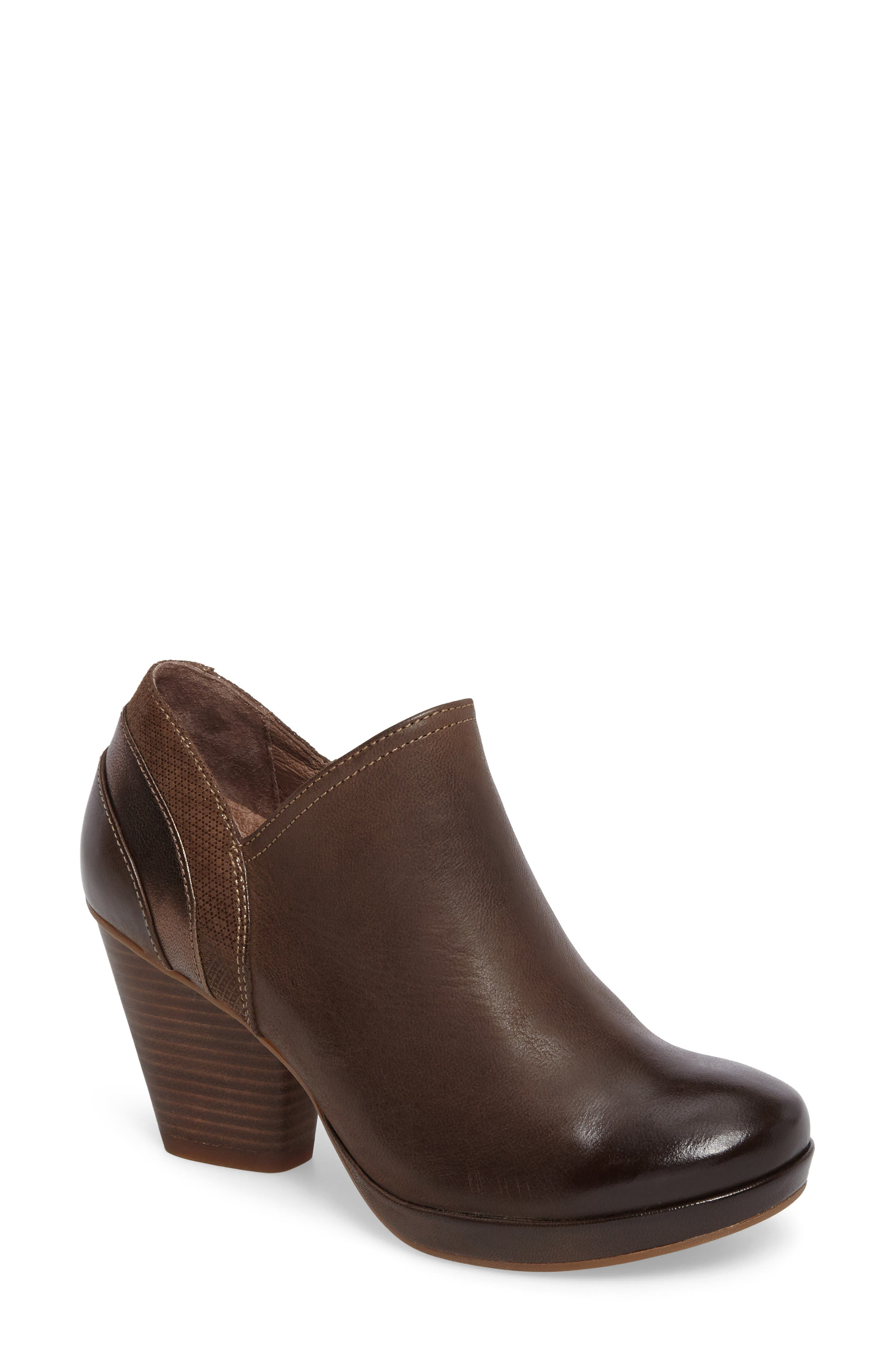 Marcia Bootie,                             Main thumbnail 1, color,                             Teak Burinished Leather