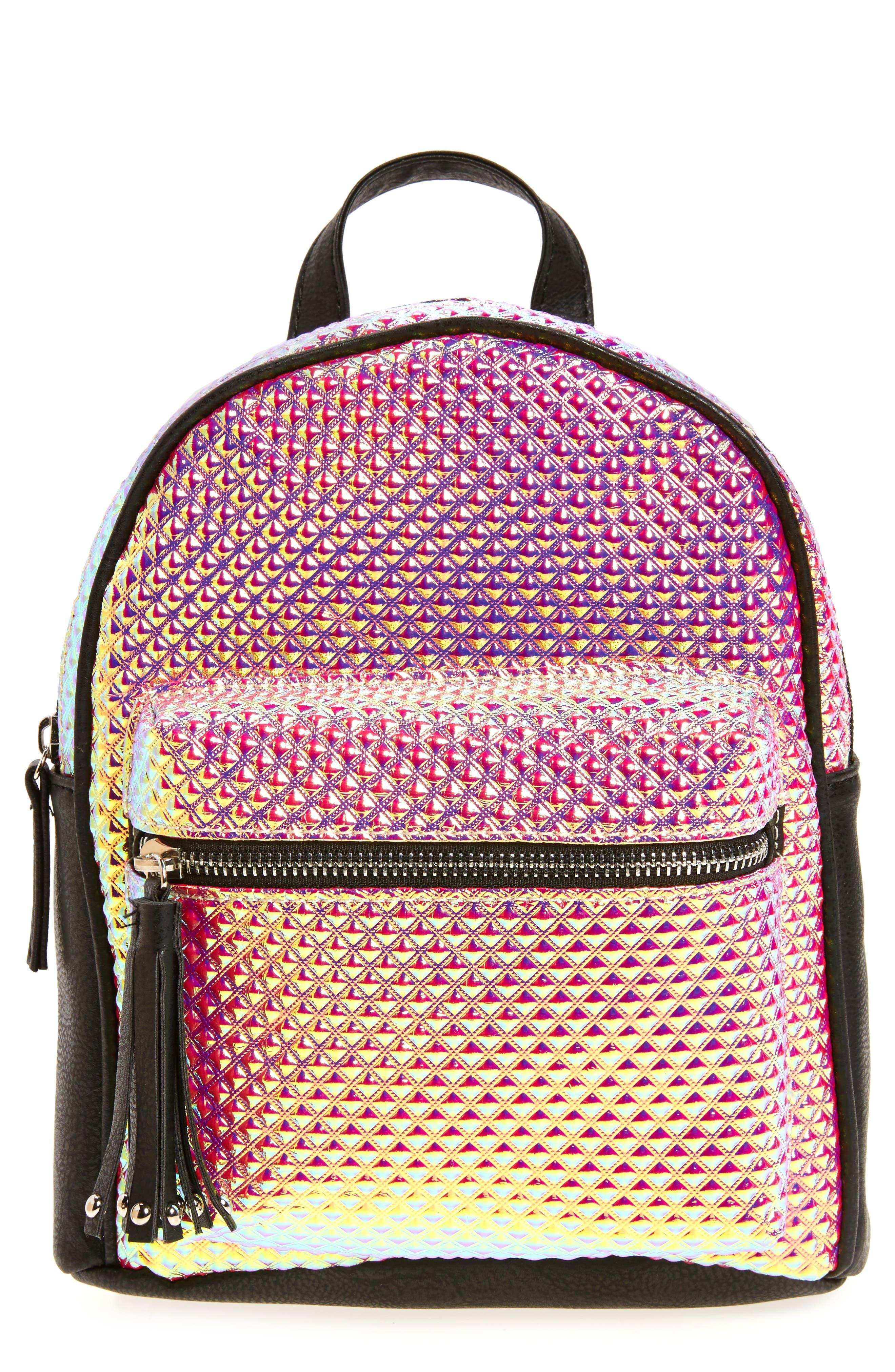 Alternate Image 1 Selected - OMG Hologram Mini Backpack (Kids)