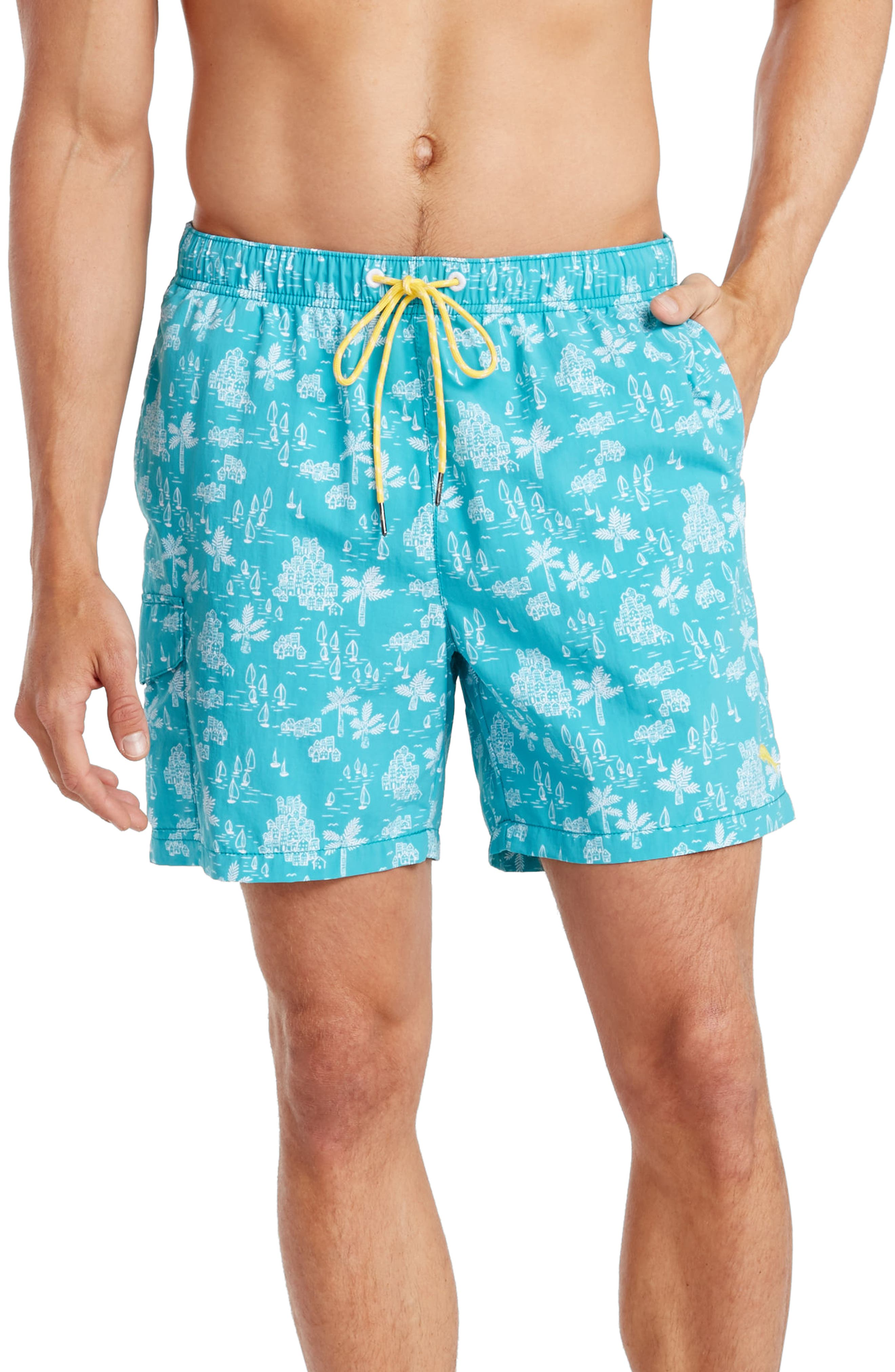 Tommy Bahama Naples Santorini Sails Swim Trunks (Big & Tall)