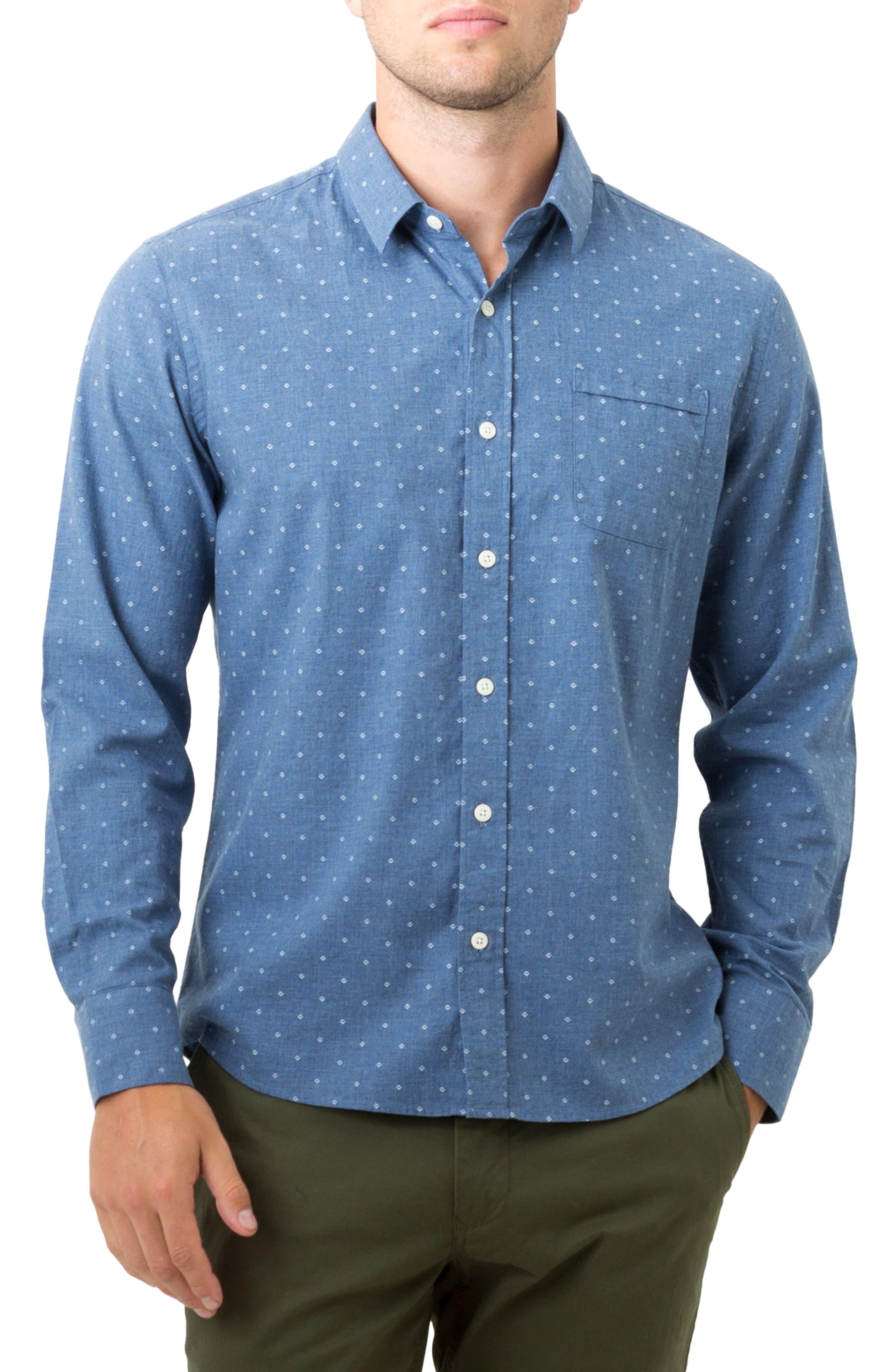 Madison Blues Woven Shirt,                         Main,                         color, Navy