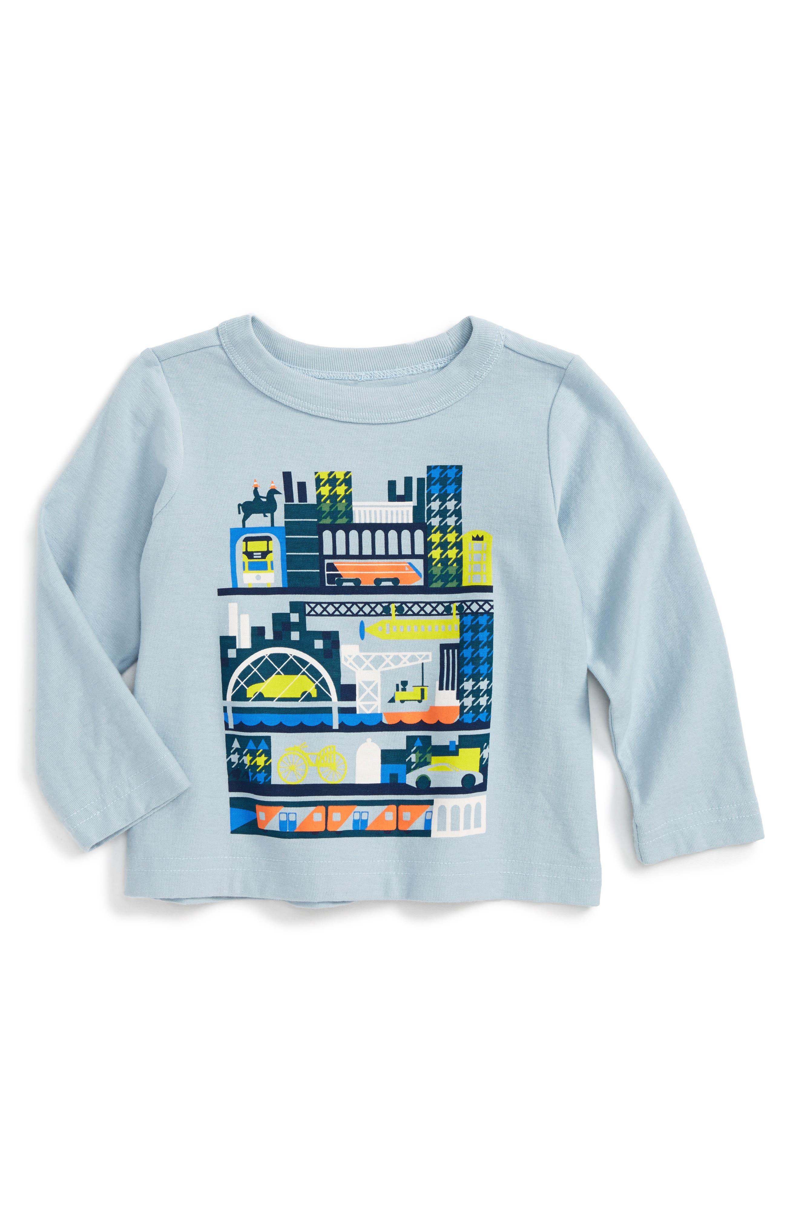 Tea Collection Glasgow Tour Graphic T-Shirt (Baby Boys)