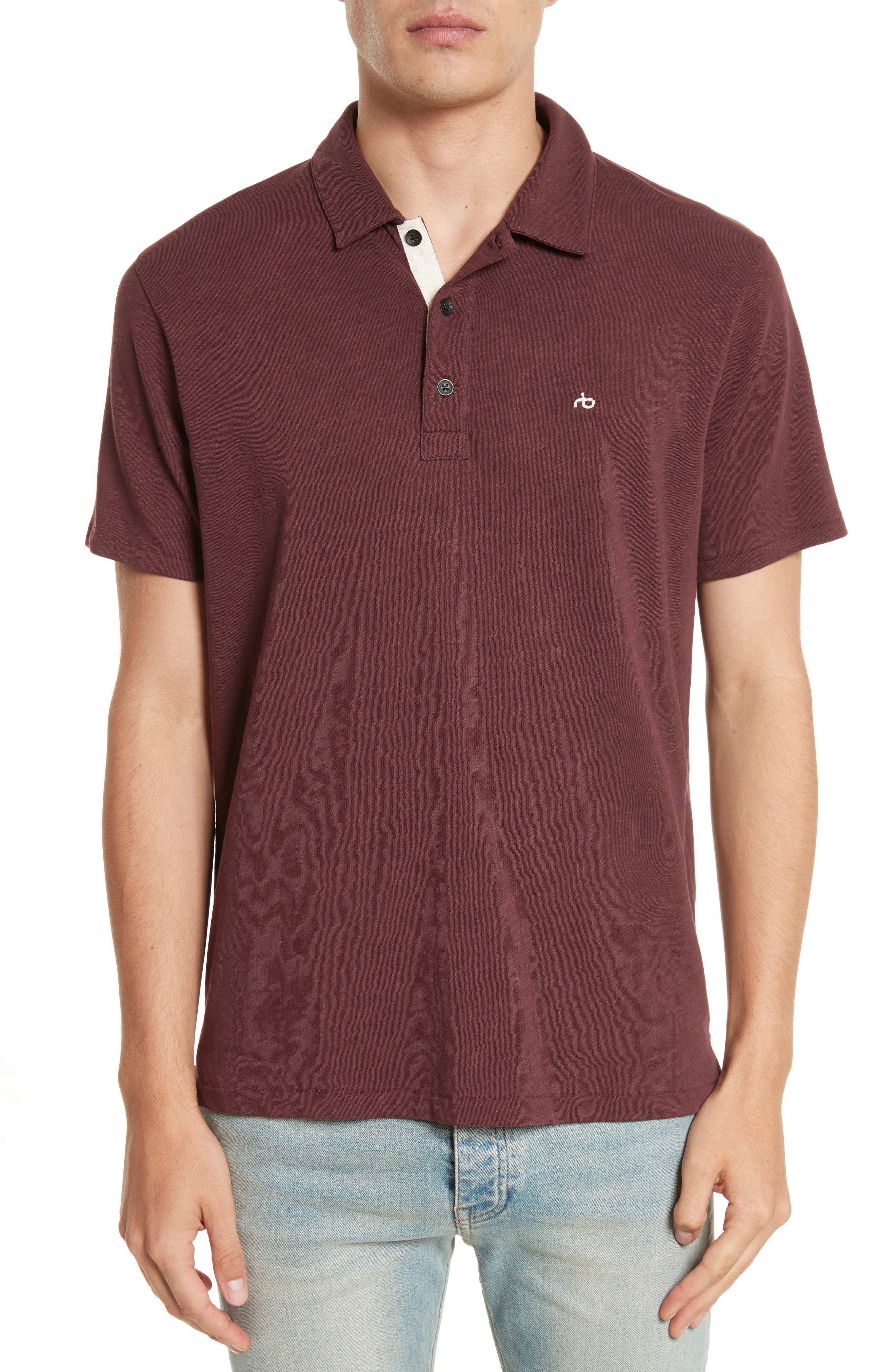 RAG & BONE Standard Issue Slub Jersey Polo