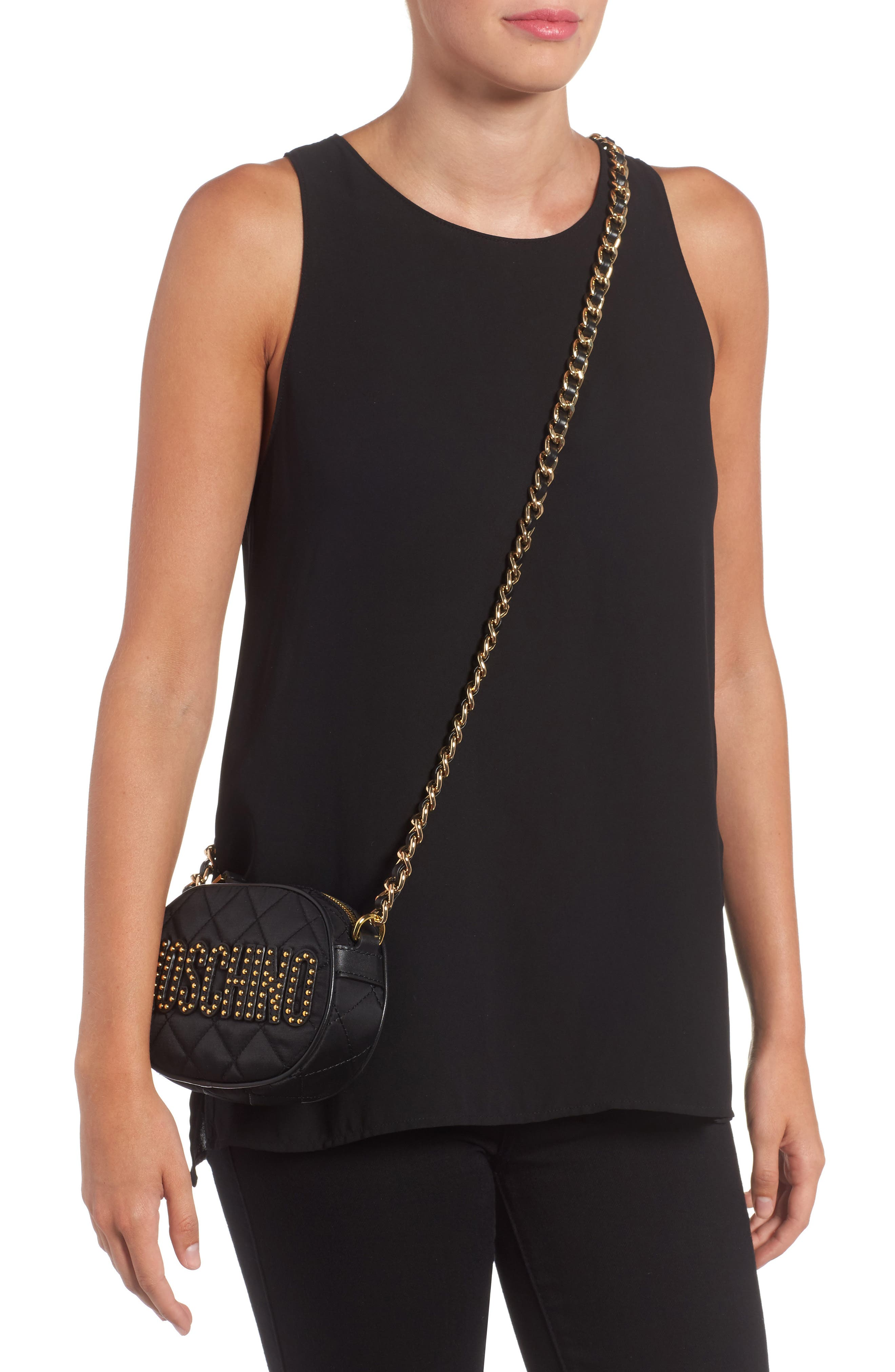 Alternate Image 2  - Moschino Small Quilted Camera Bag