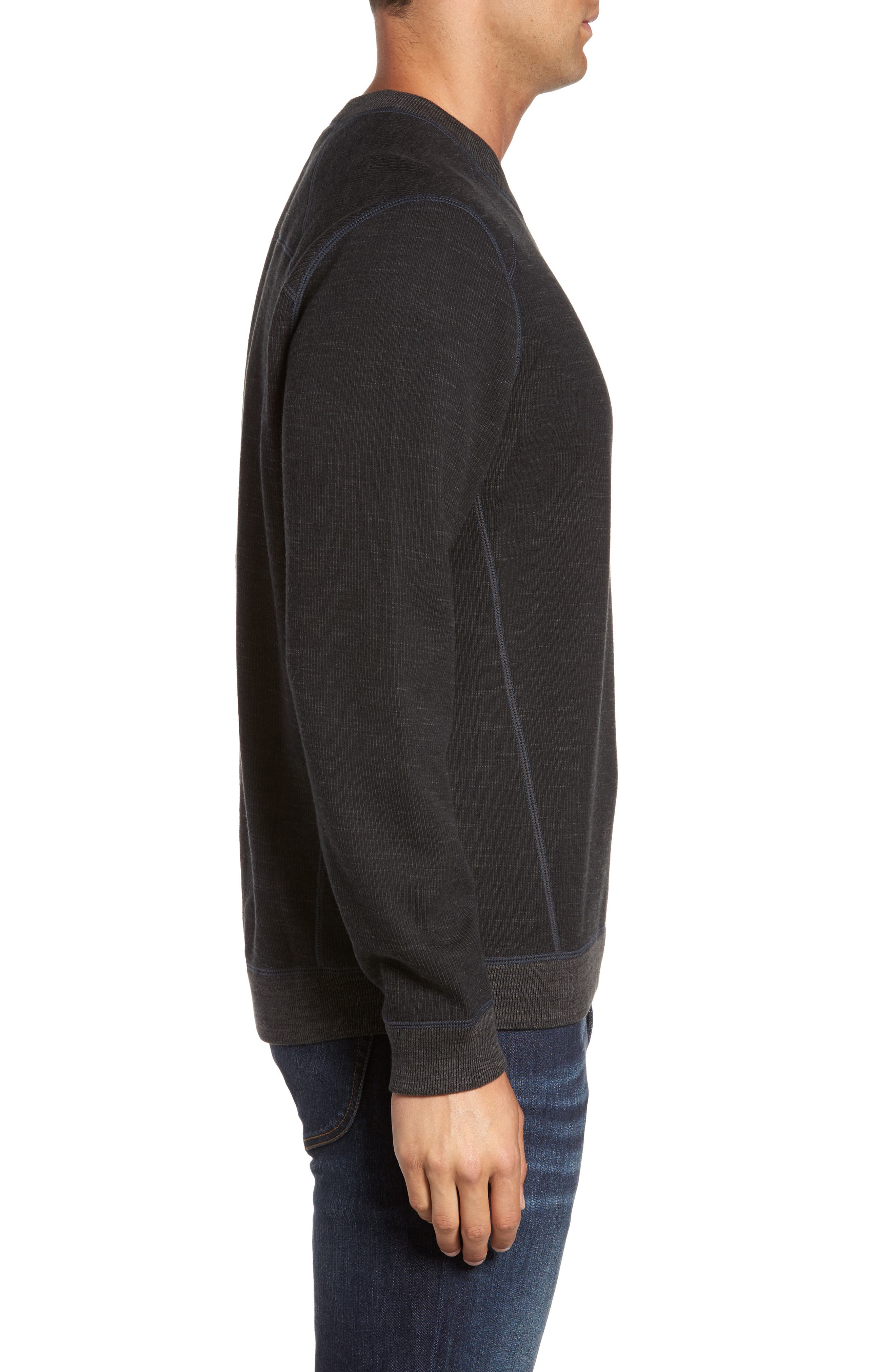 Flipside Pro Reversible Sweatshirt,                             Alternate thumbnail 3, color,                             Black