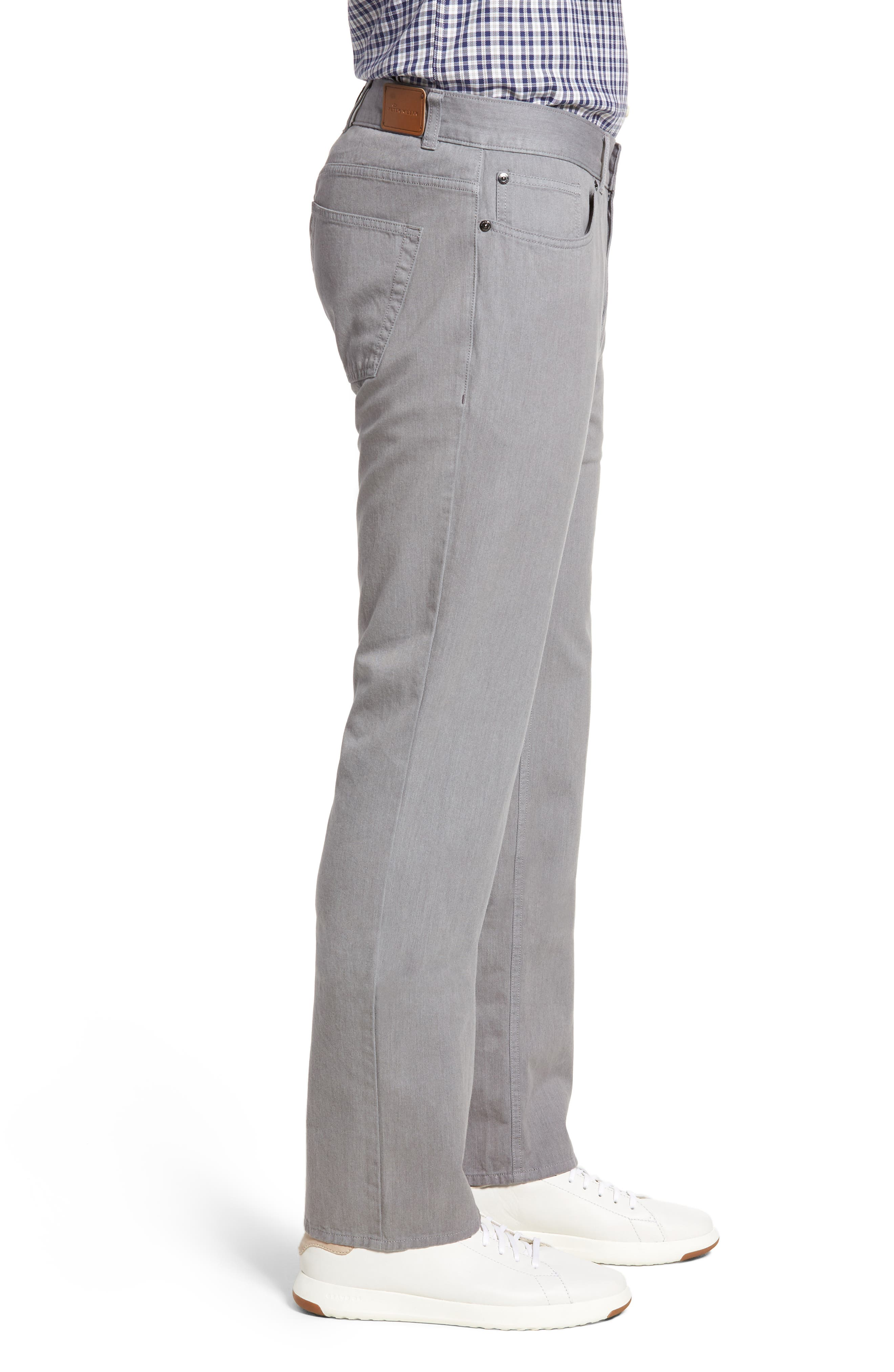 Mélange Five-Pocket Pants,                             Alternate thumbnail 3, color,                             Stingray