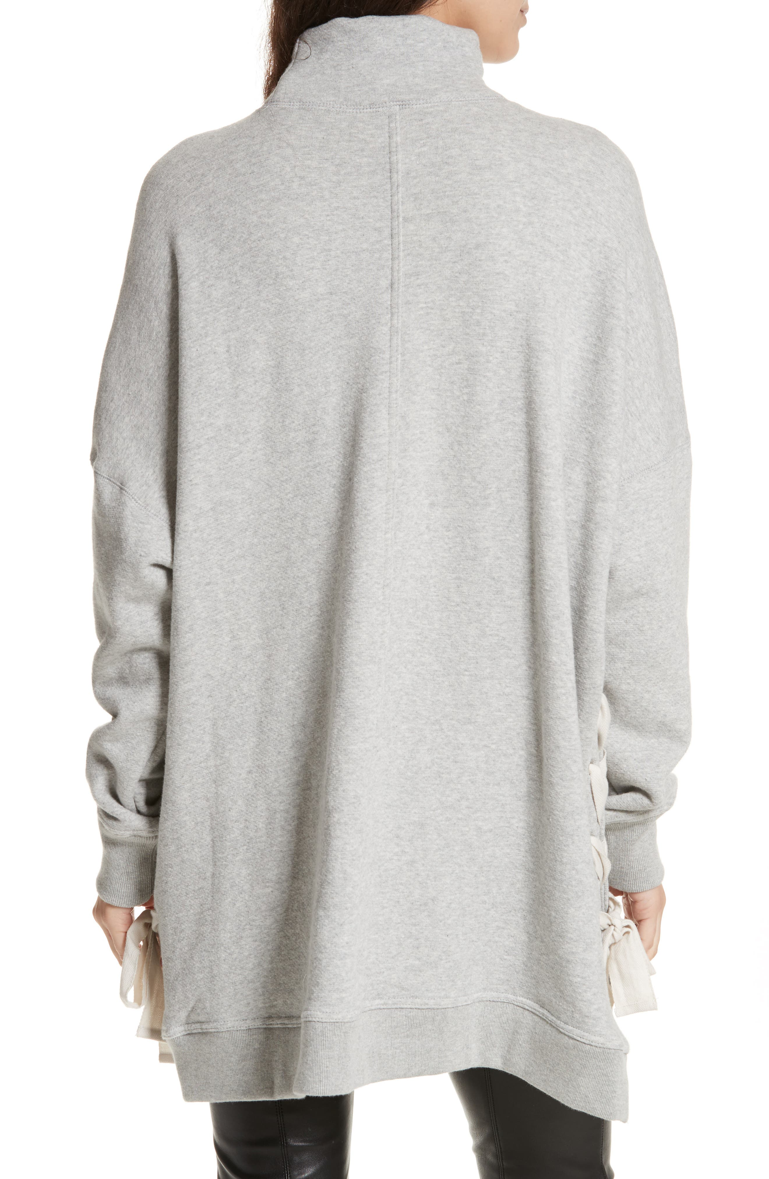So Plush Lace-Up Pullover,                             Alternate thumbnail 2, color,                             Grey