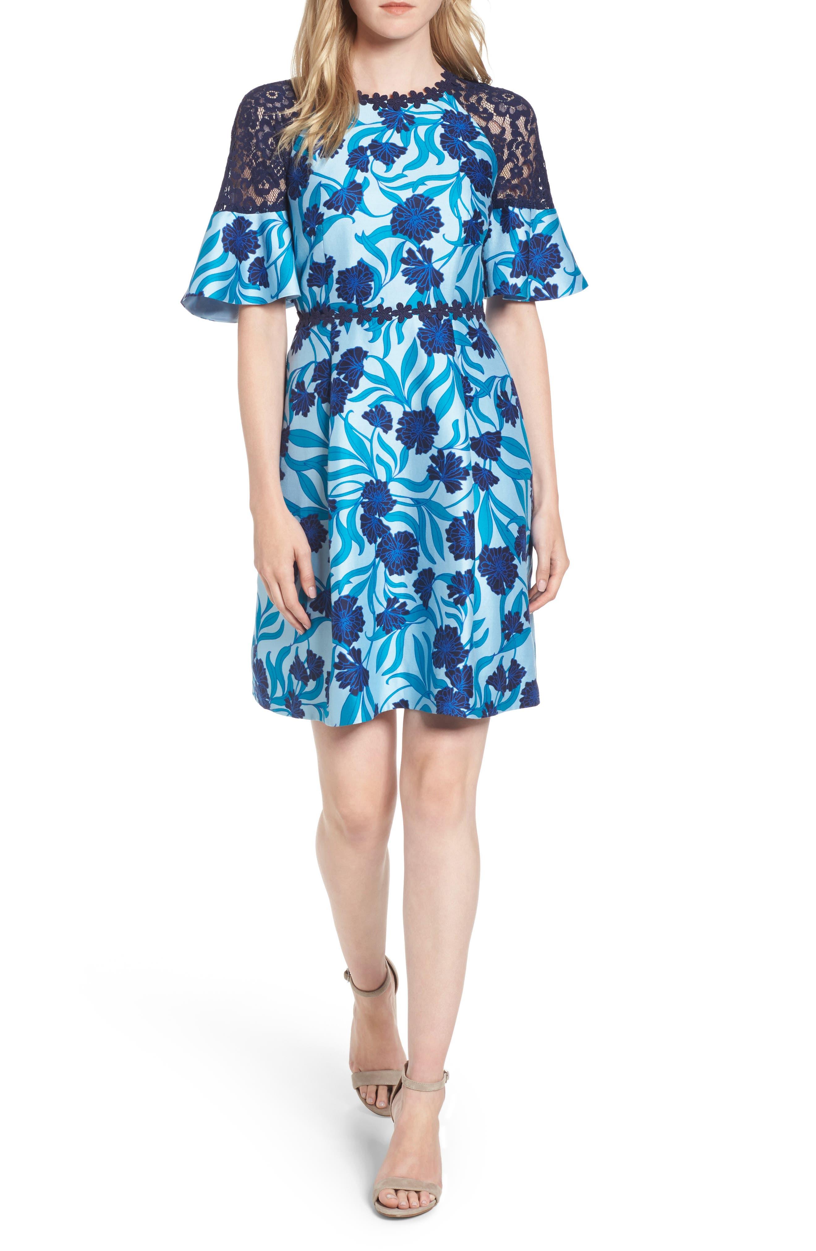 Maggie Buttercup Bloom Dress,                         Main,                         color, Buttercup Blue