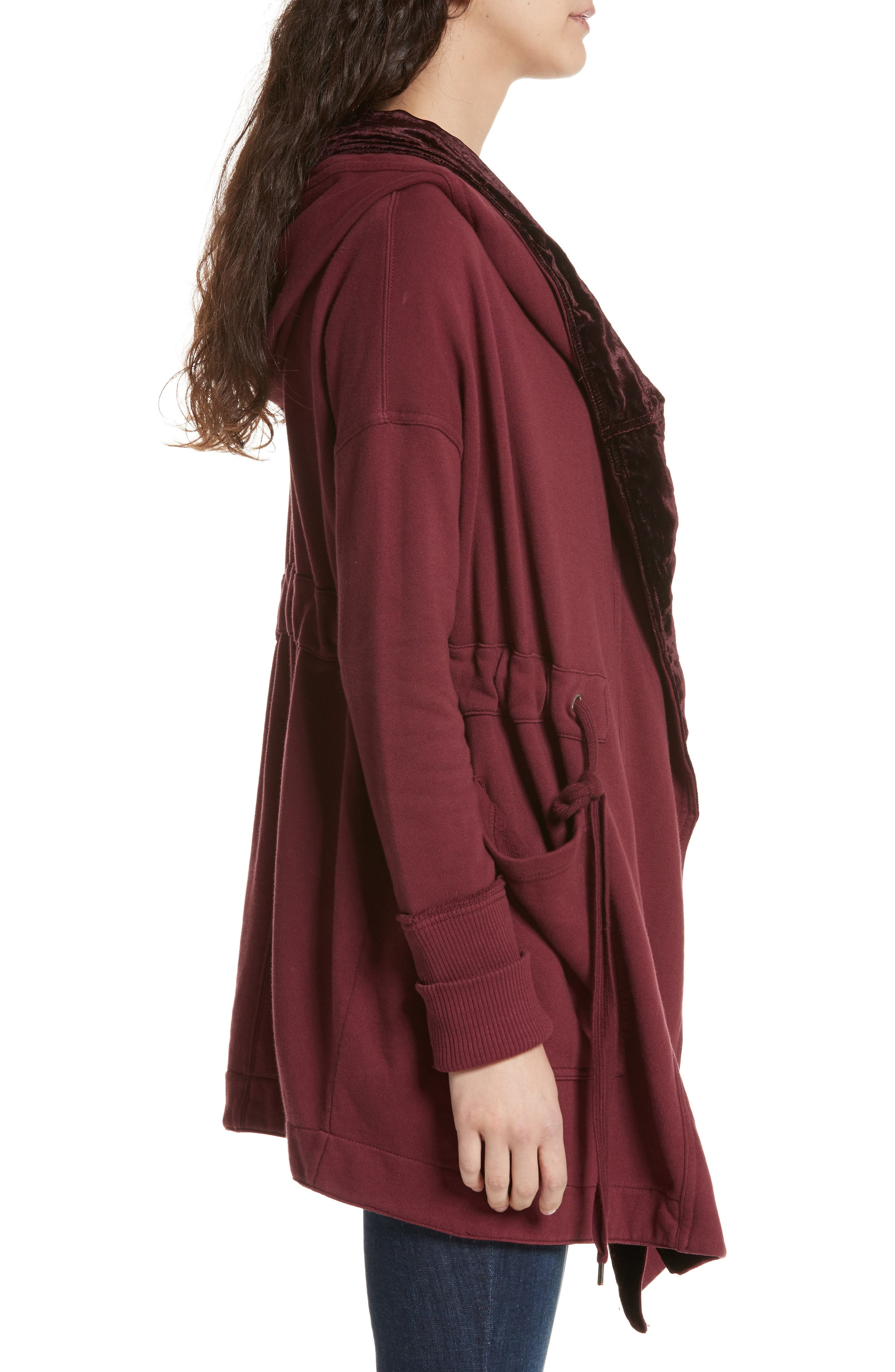 Westwood Cardigan,                             Alternate thumbnail 3, color,                             Wine