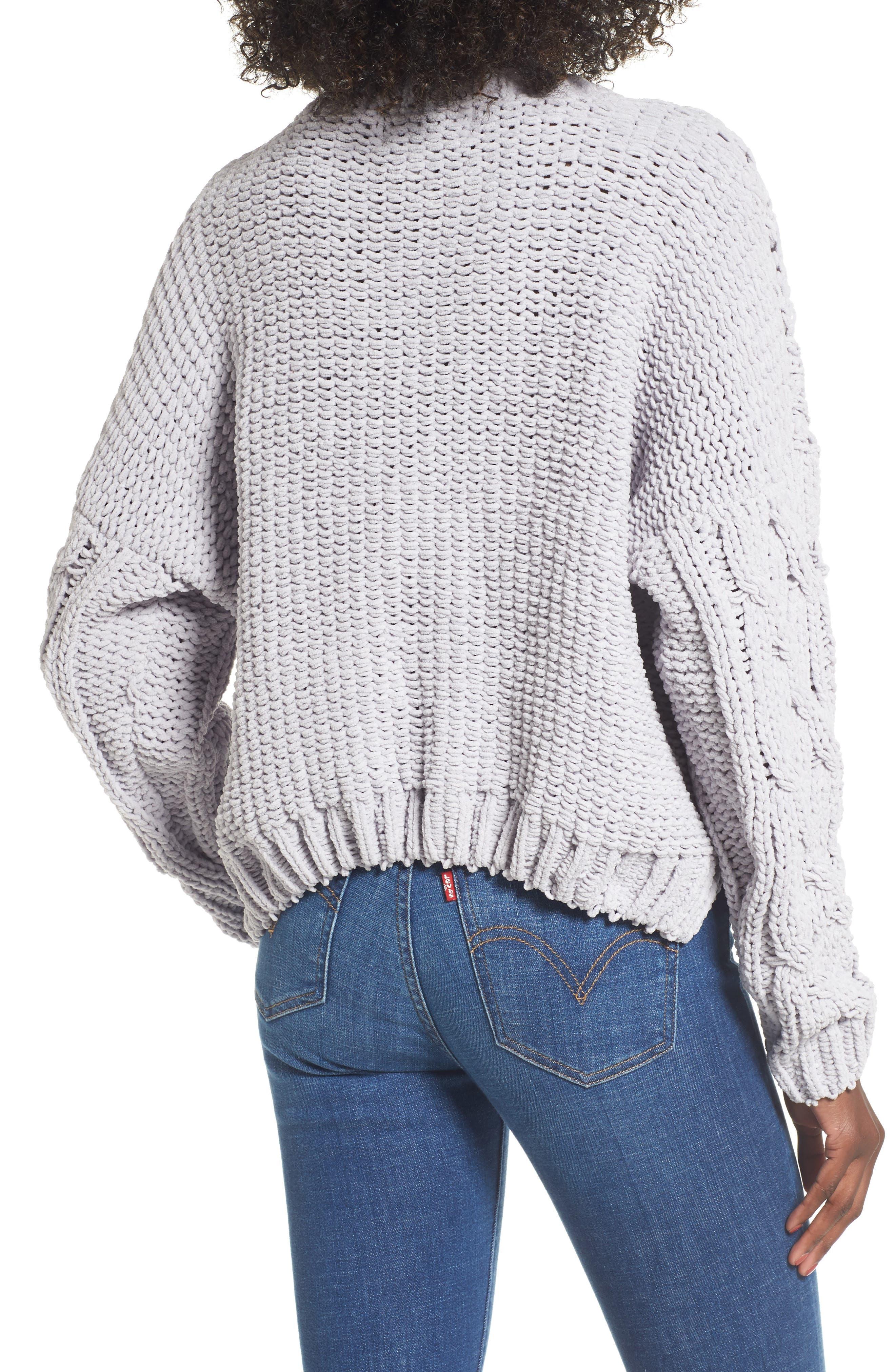 Cozy Crewneck Sweater,                             Alternate thumbnail 2, color,                             Light Grey