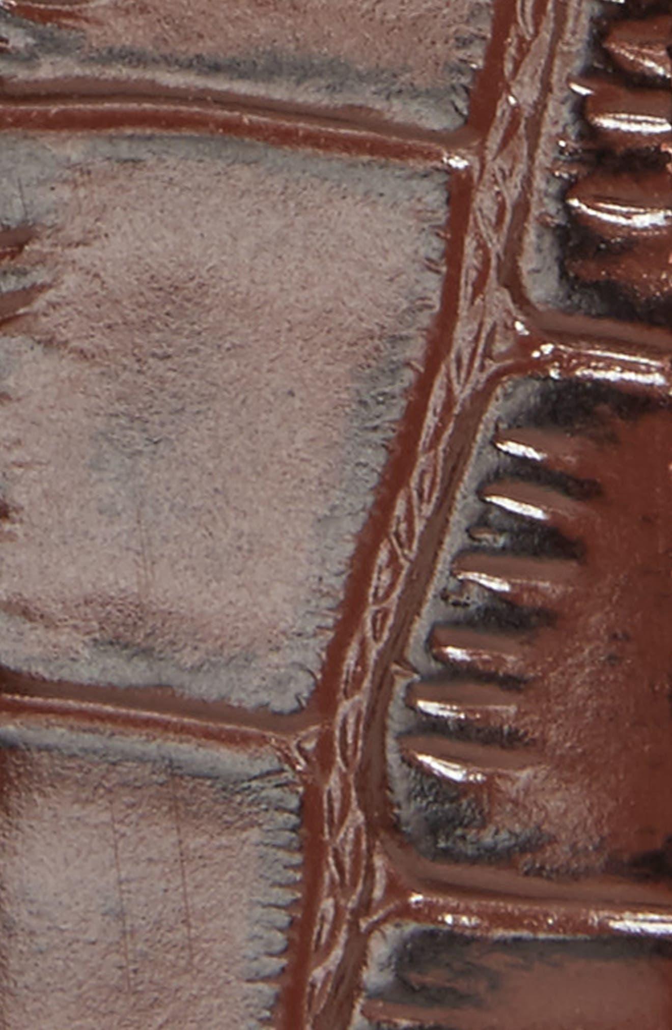 Sunflow Reversible Leather Belt,                             Alternate thumbnail 3, color,                             Chocolate/Burgundy