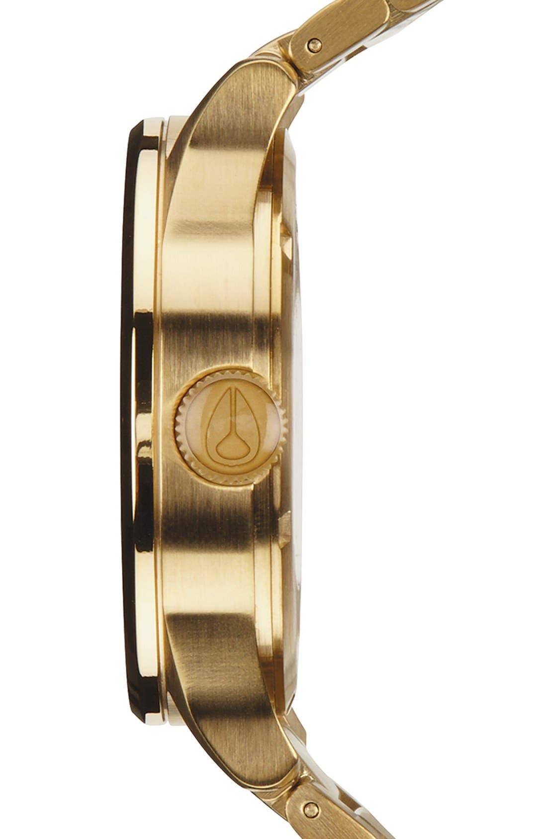 Sentry Bracelet Watch, 42mm,                             Alternate thumbnail 3, color,                             Gold/ Black