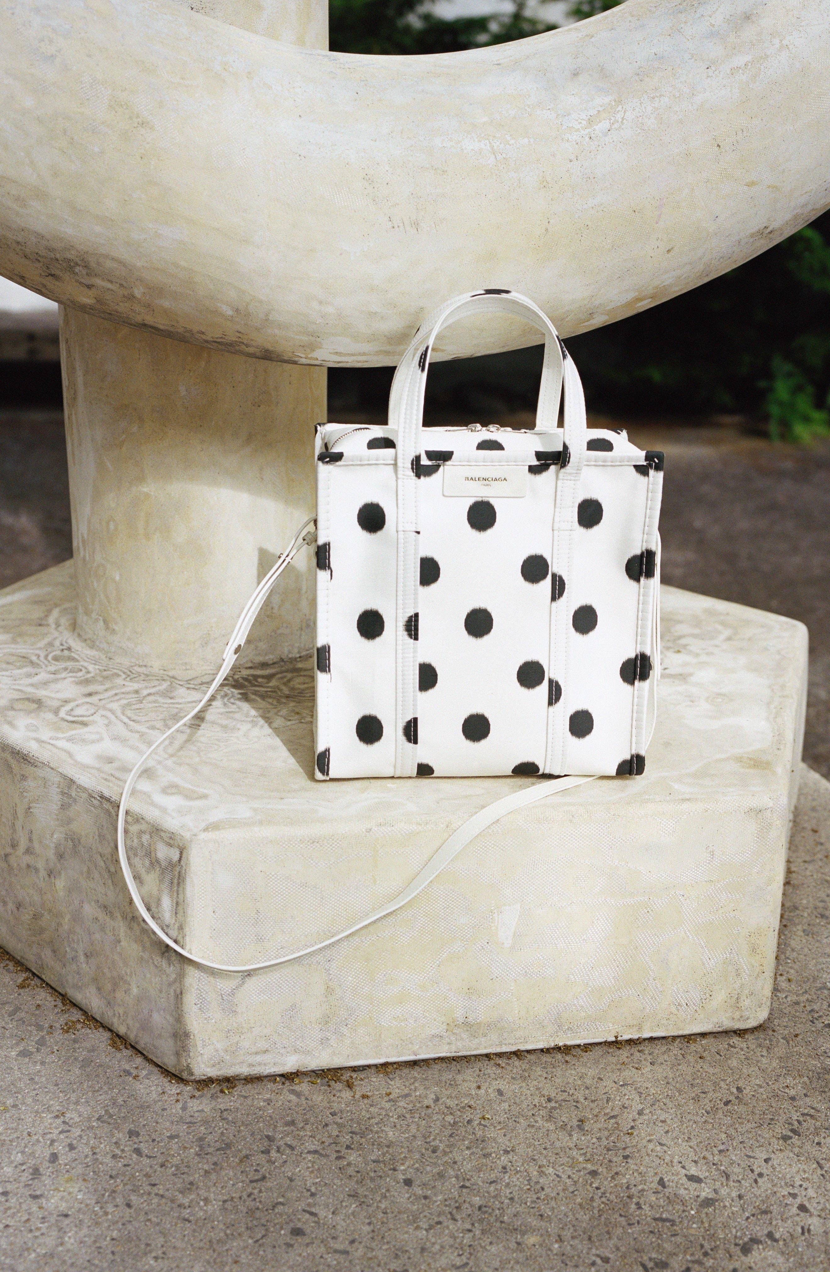 Alternate Image 2  - Balenciaga Small Polka Dot Bazar Silk Shopper