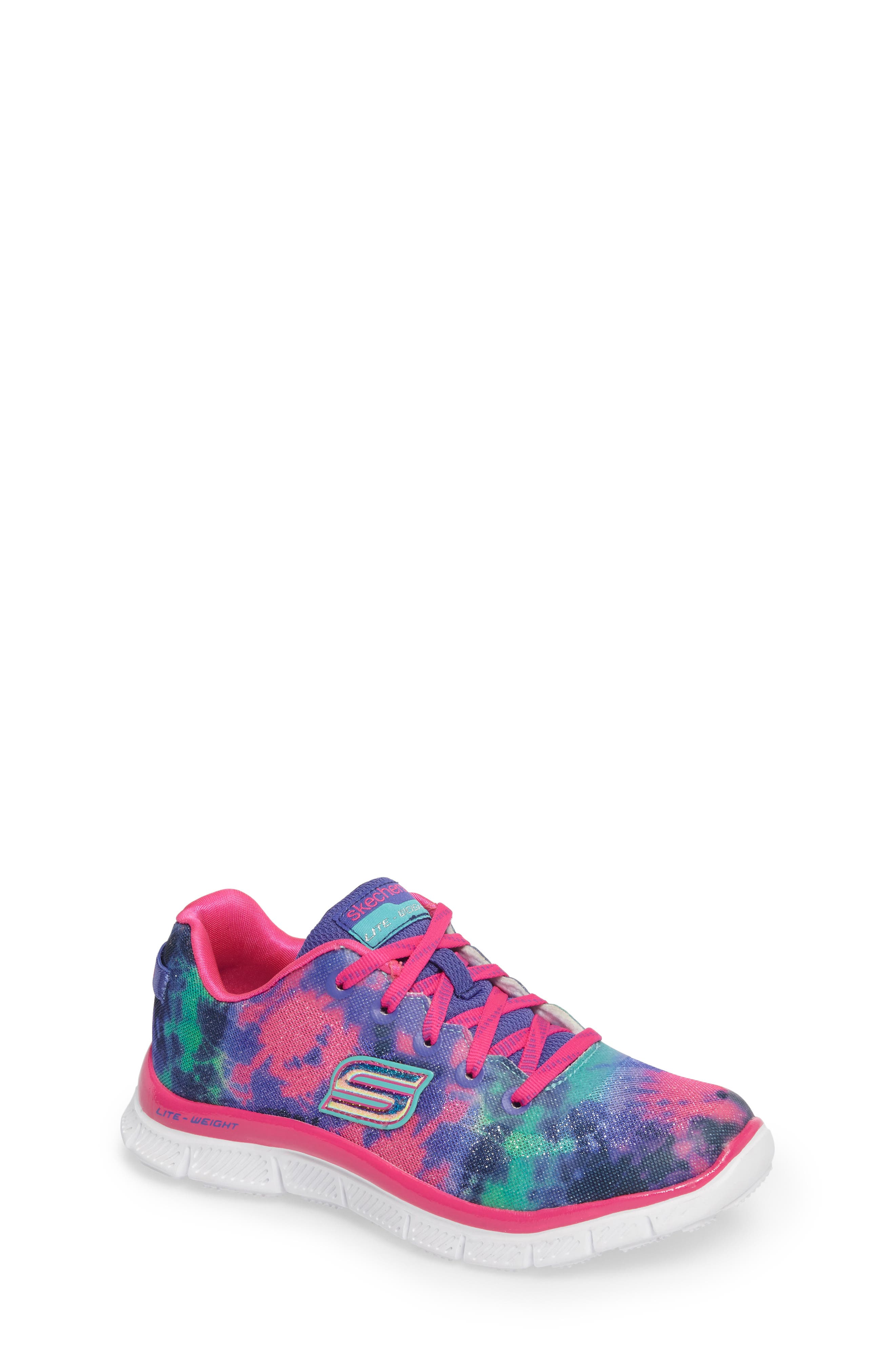 Skech Appeal Groove Thang Sneaker,                             Main thumbnail 1, color,                             Neon Pink/ Multi