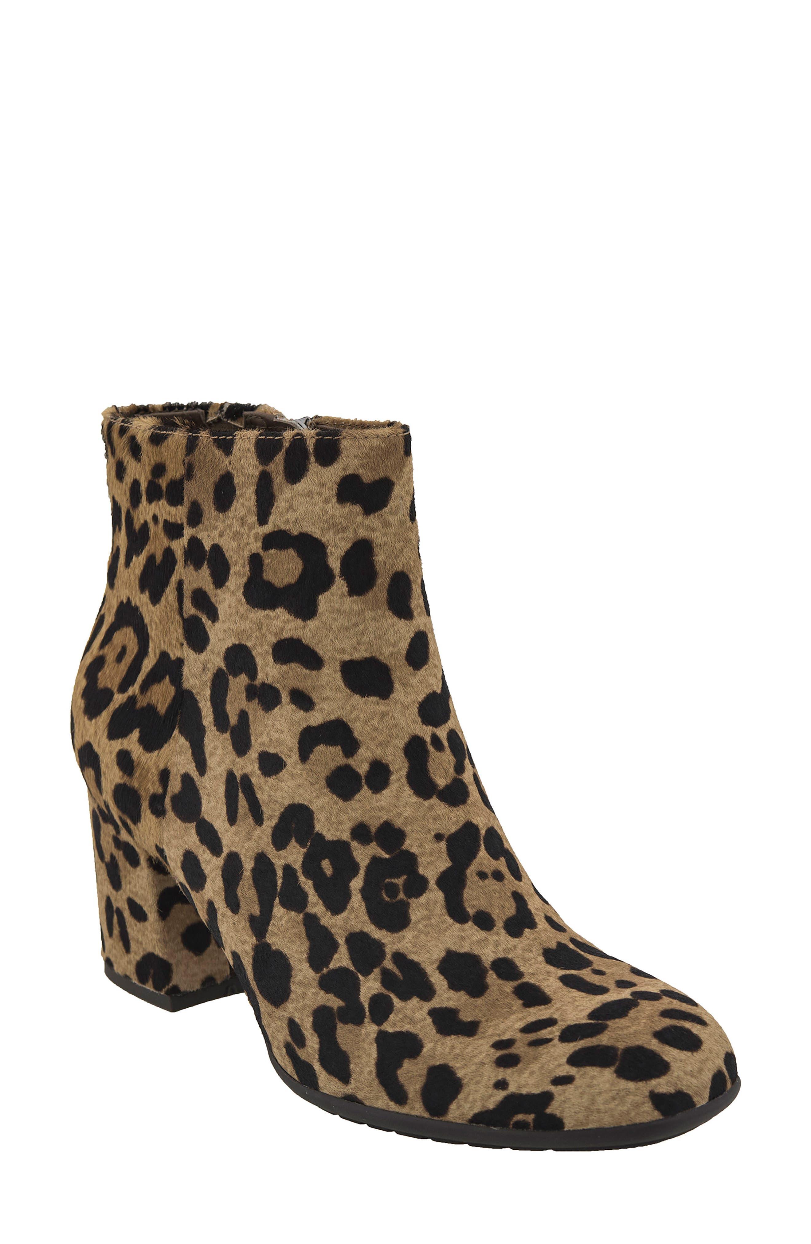 Apollo Bootie,                         Main,                         color, Leopard Print Calfhair
