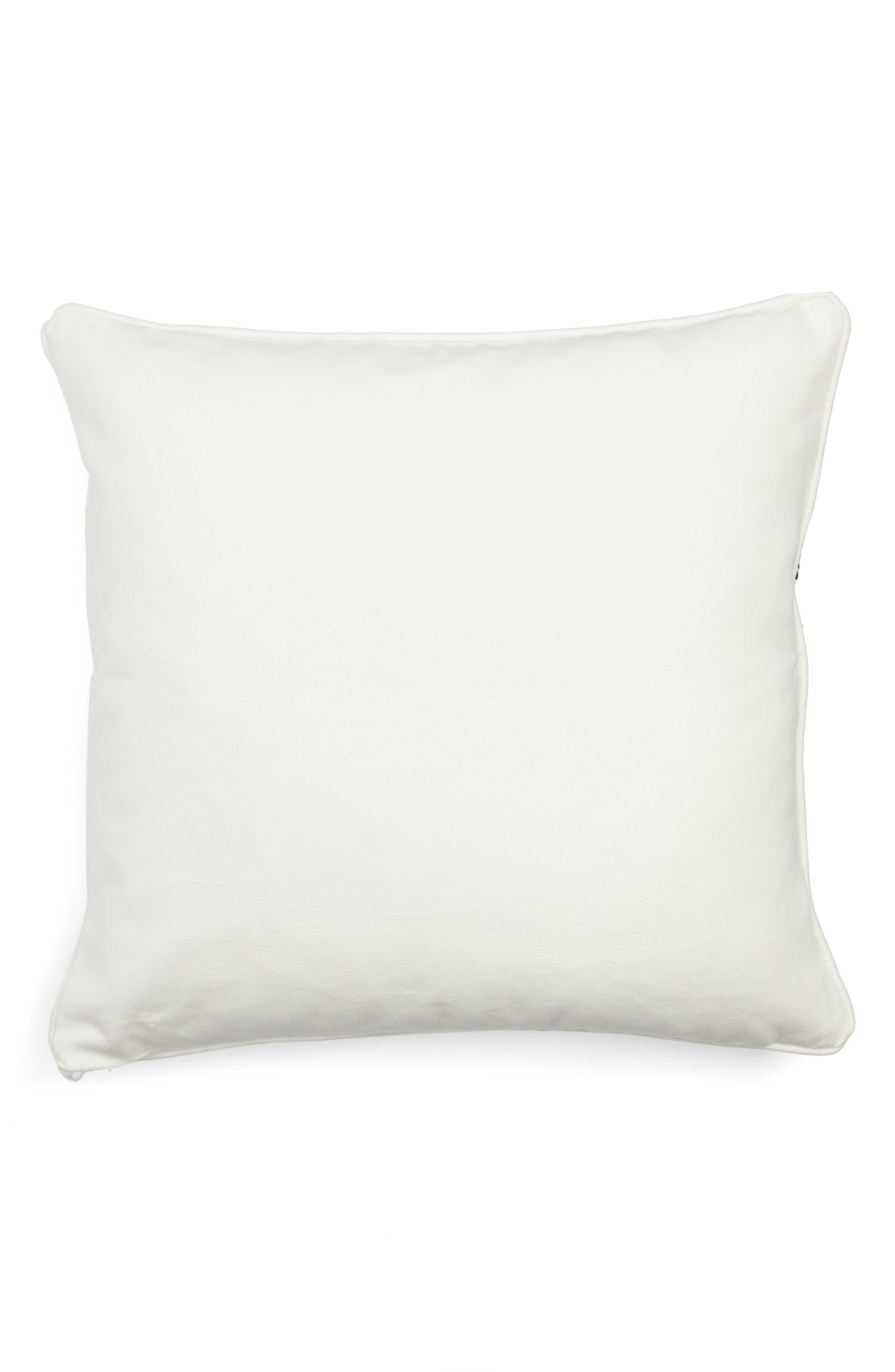 Embroidered Medallion Pillow,                             Alternate thumbnail 2, color,                             White