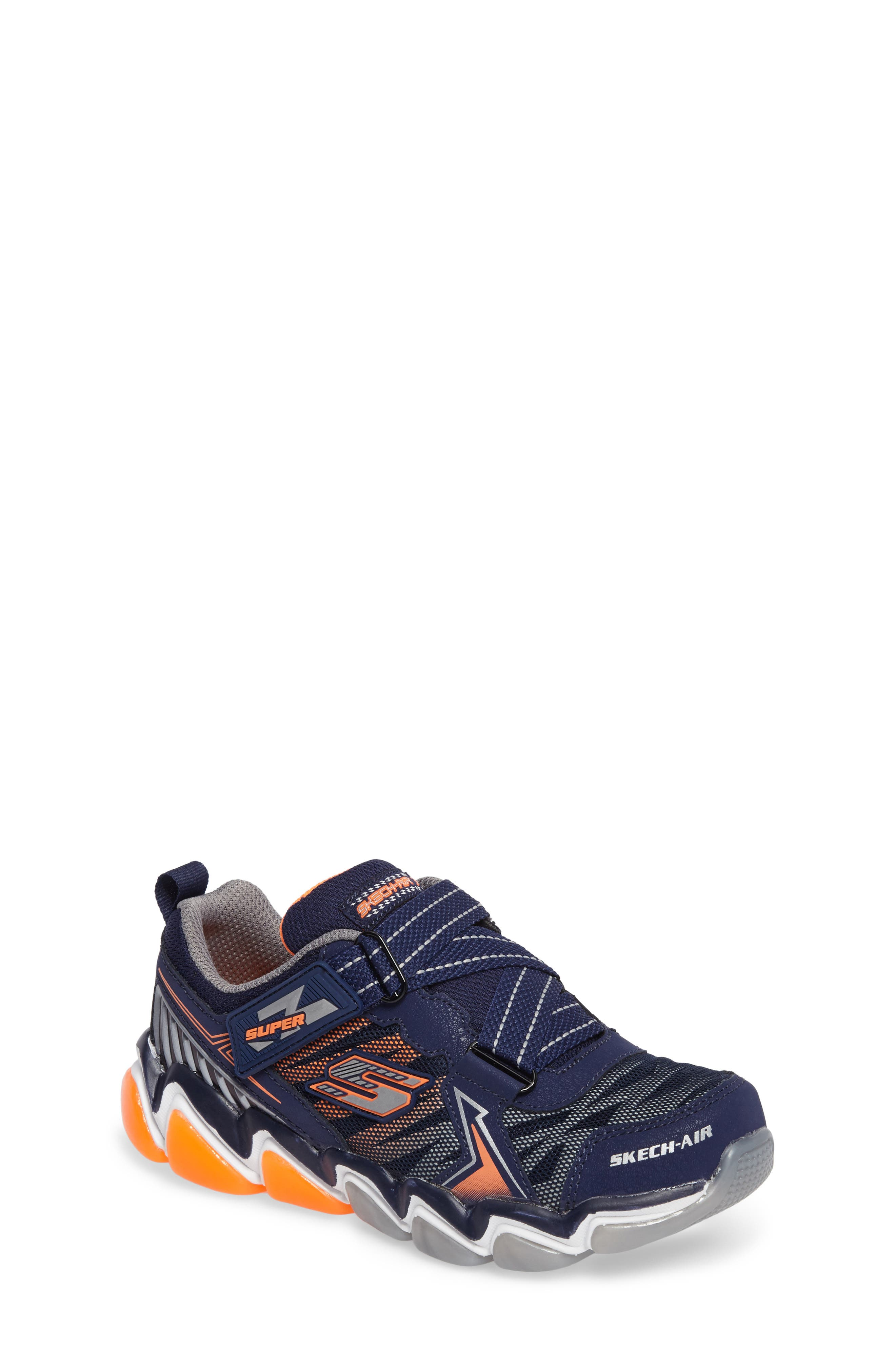 Skech-Air 3.0 Downswitch Sneaker,                             Main thumbnail 1, color,                             Navy/ Orange