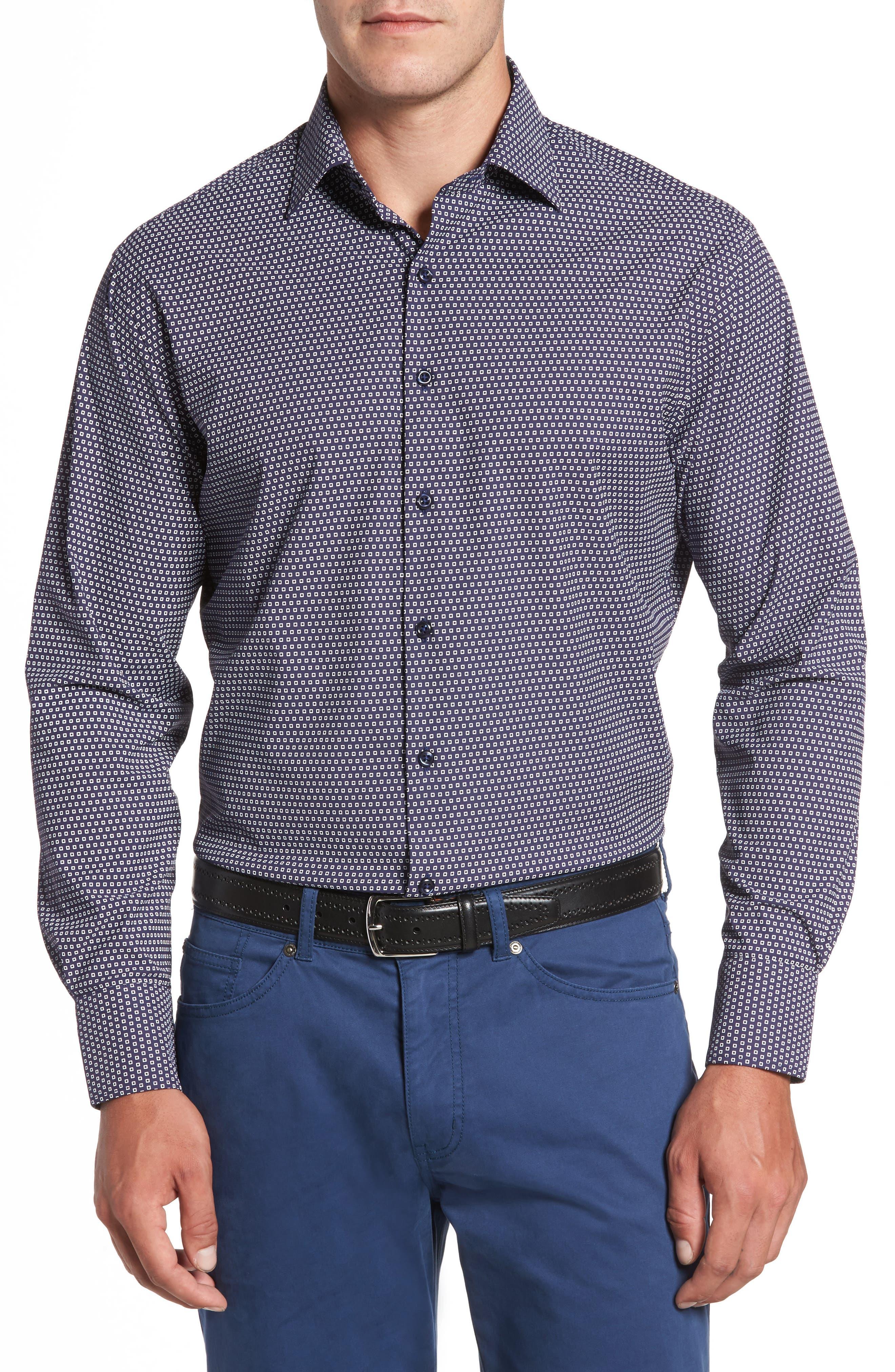 Chex Regular Fit Performance Sport Shirt,                         Main,                         color, Yankee Blue