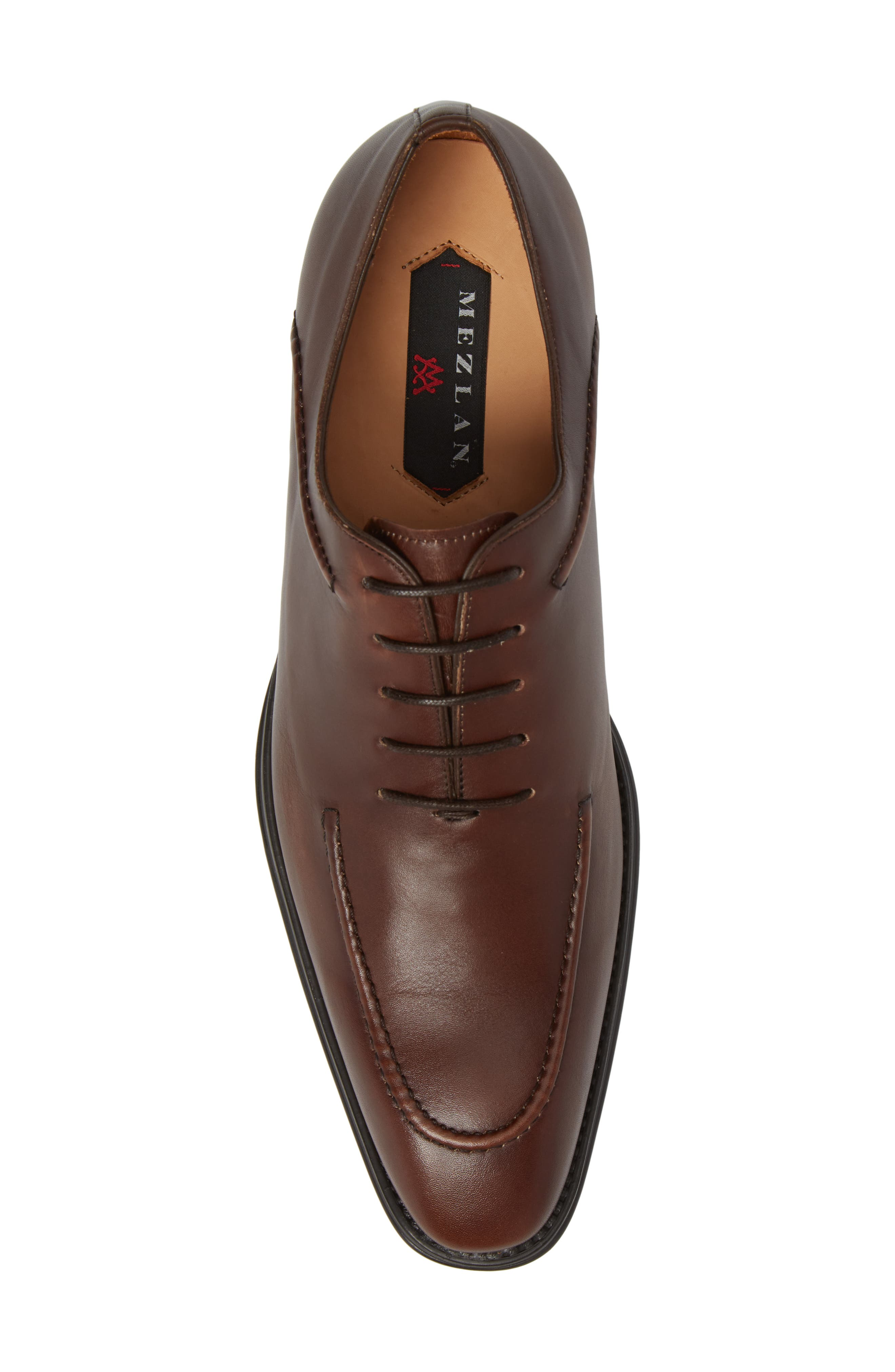 Velez Moc Toe Oxford,                             Alternate thumbnail 5, color,                             Brown Leather