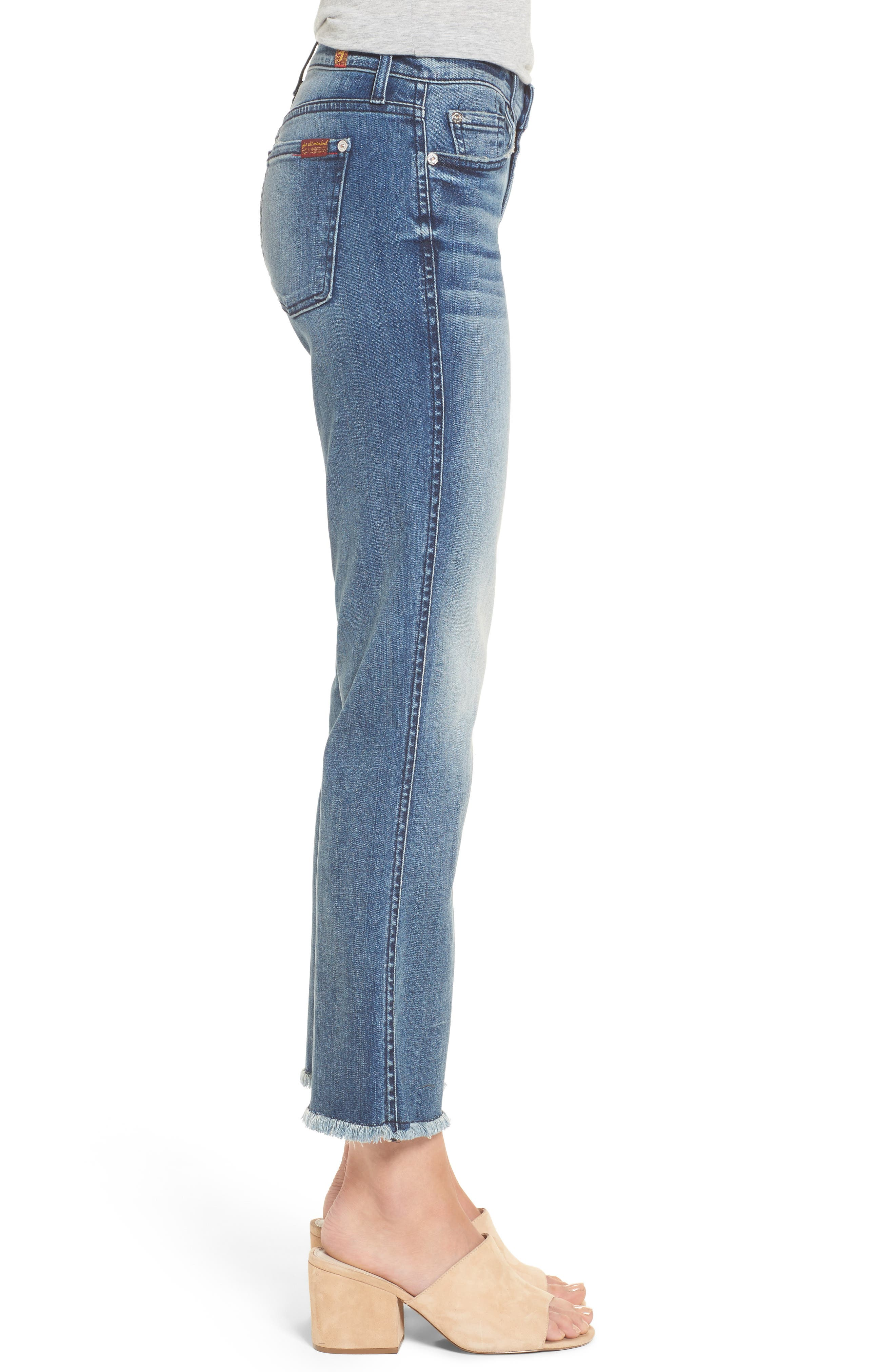 Crop Bootcut Jeans,                             Alternate thumbnail 3, color,                             Wall Street Heritage