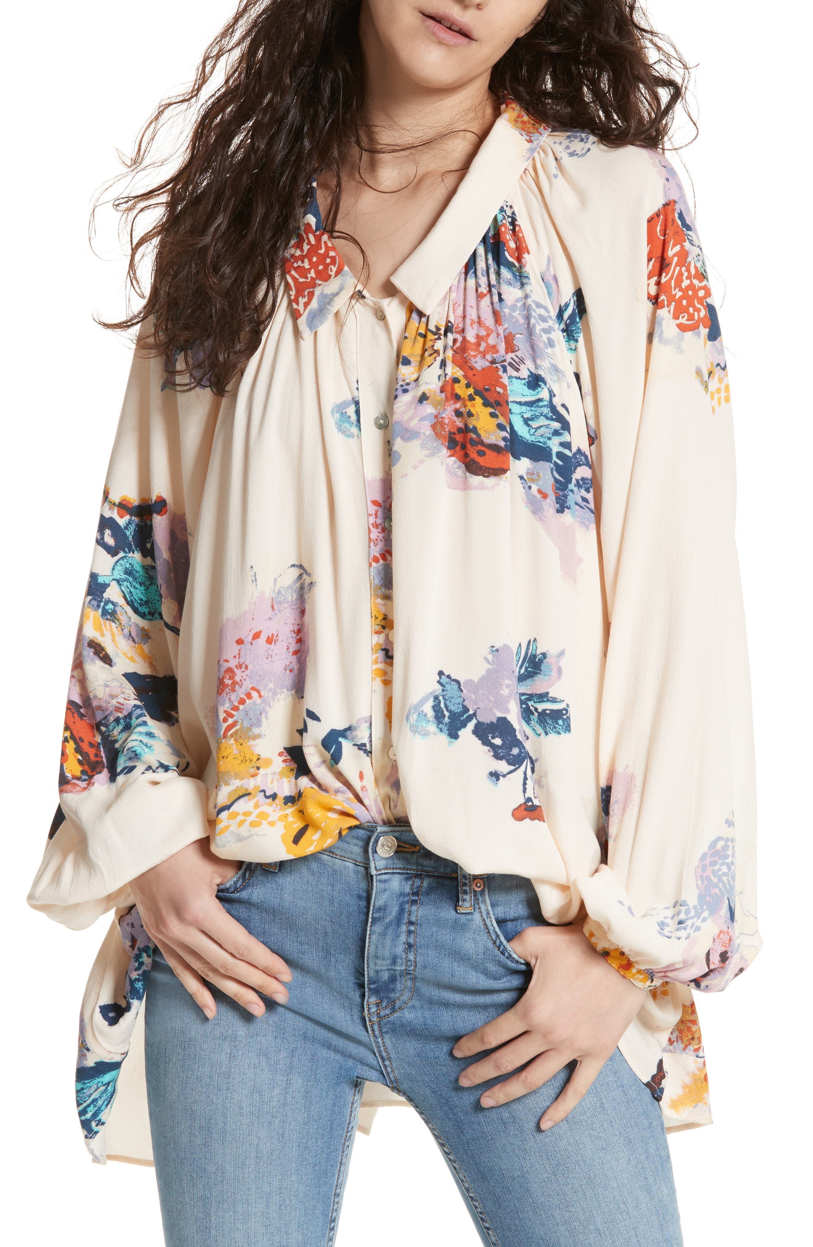 Meadow Lark Blouse,                         Main,                         color, Cream