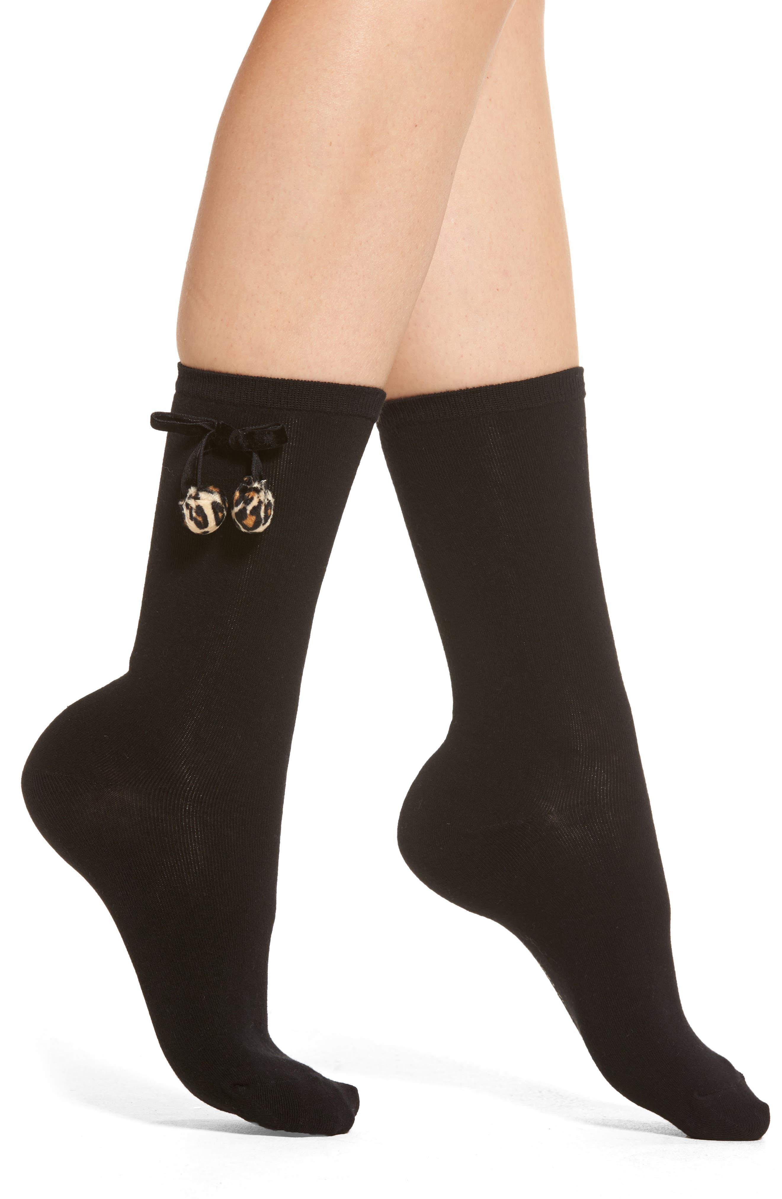 crew socks,                         Main,                         color, Black