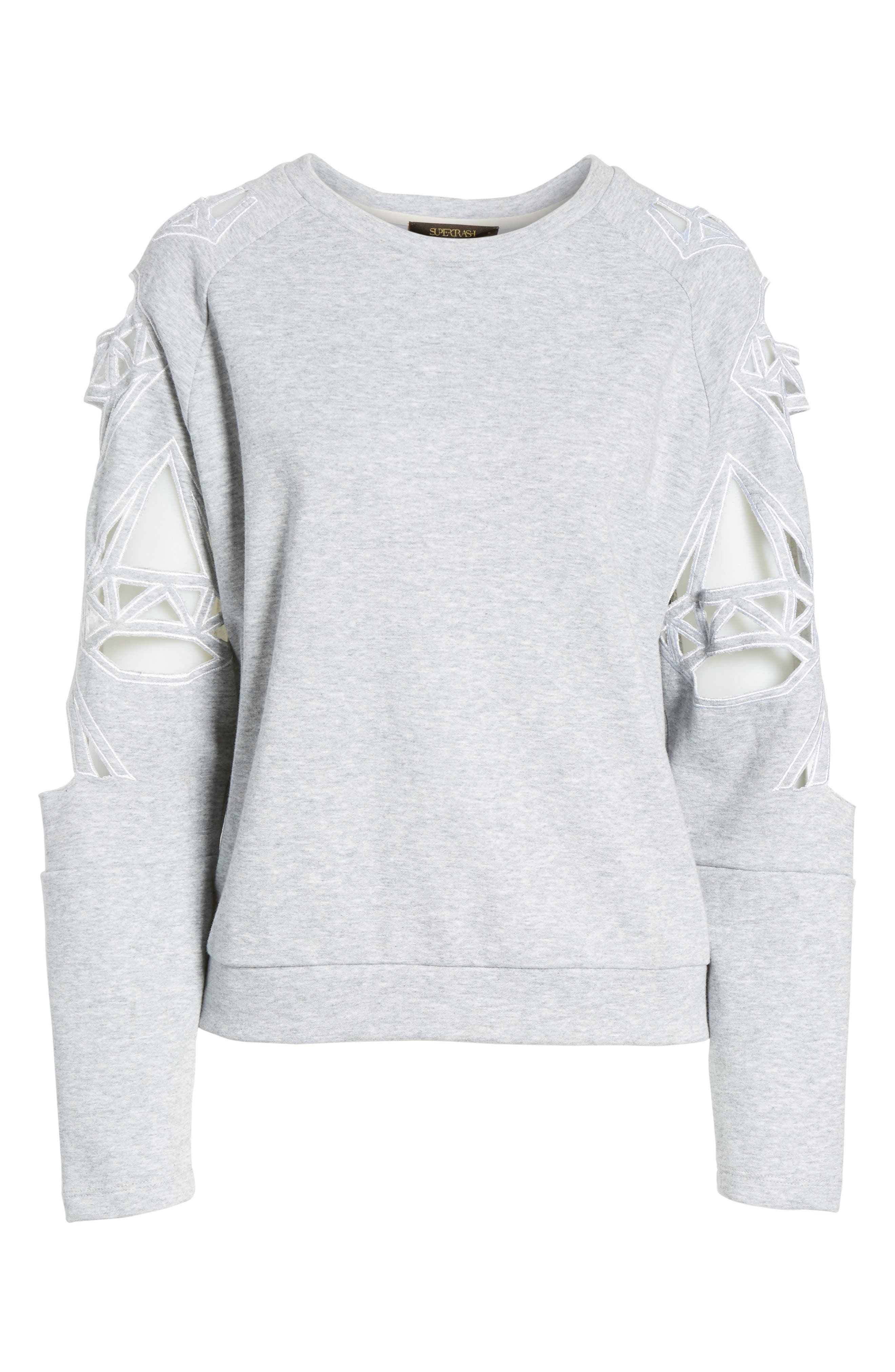 Alternate Image 6  - Supertrash Taffic Cutout Sweatshirt