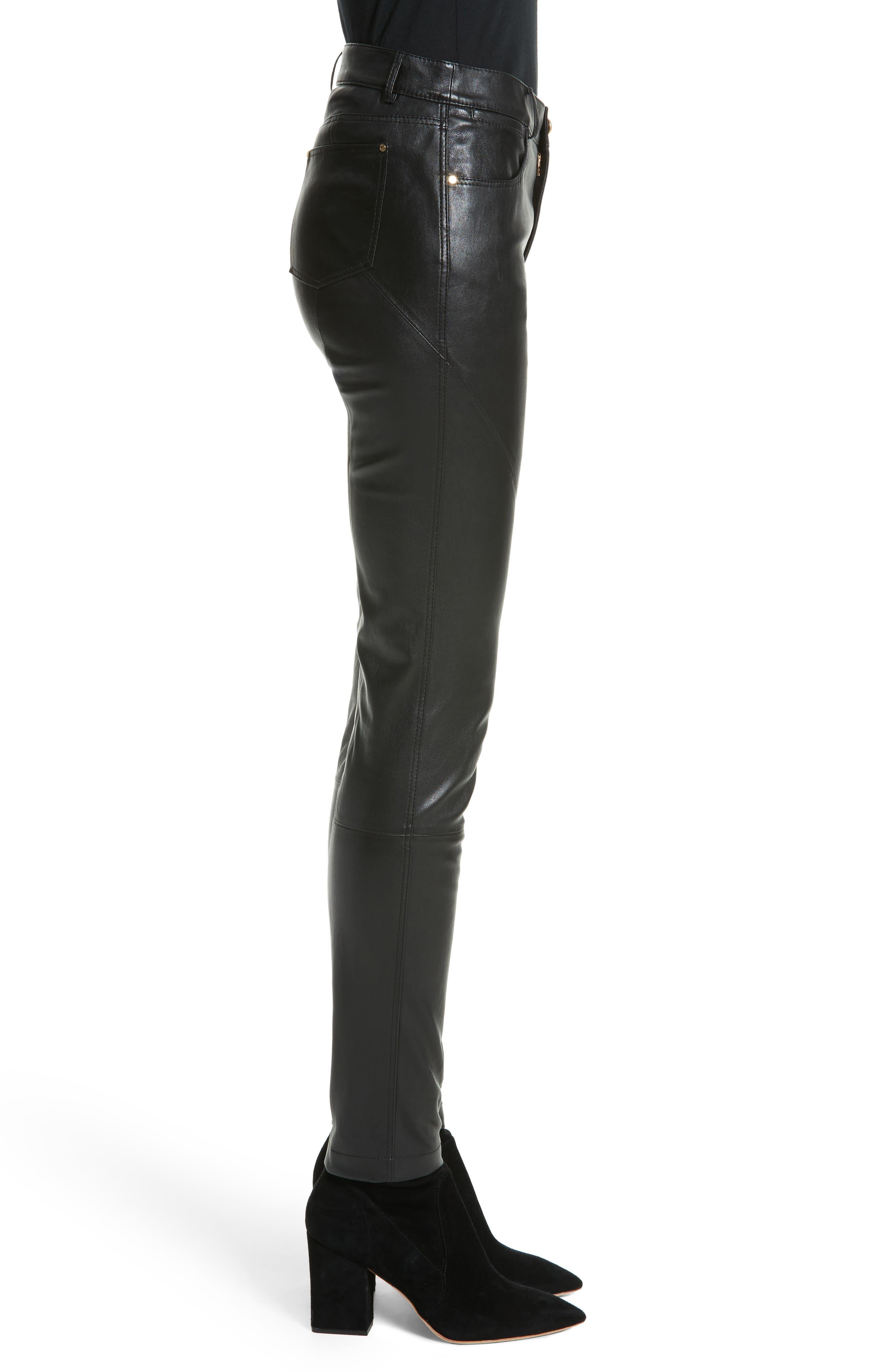 Alternate Image 3  - Lafayette 148 New York Mercer Nappa Leather Pants