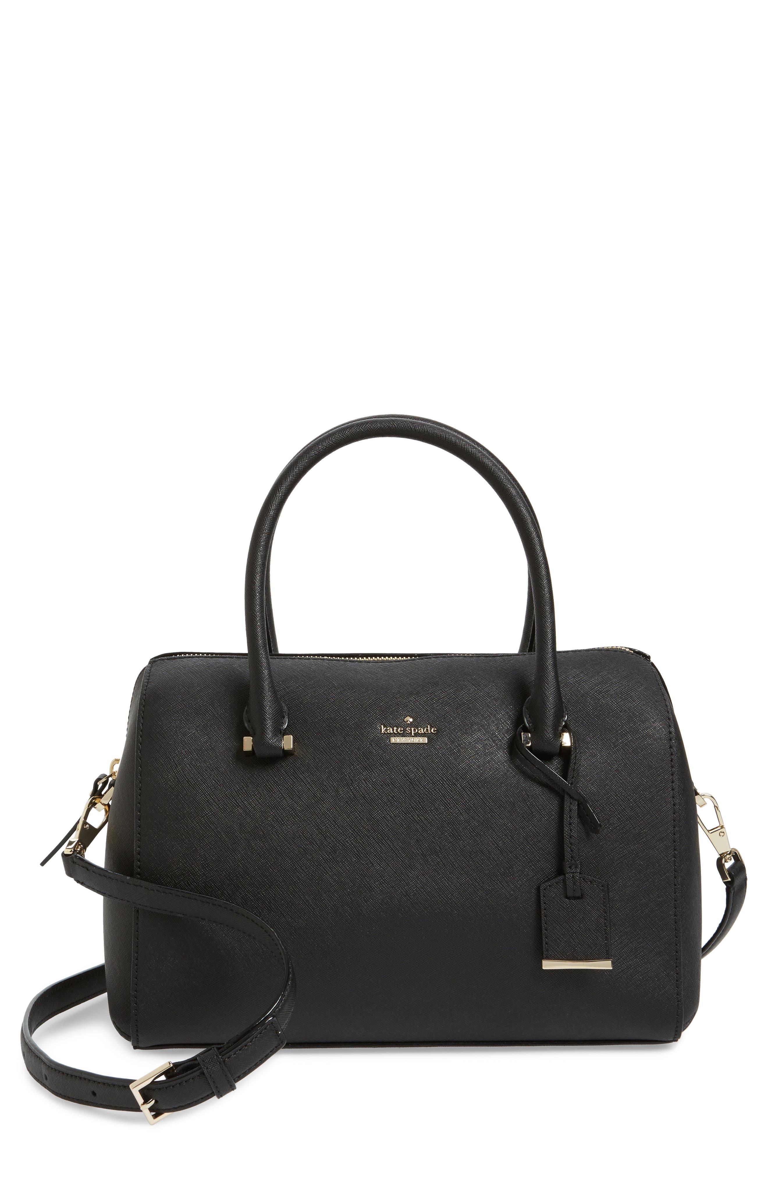 mega cameron street - lane leather satchel,                             Main thumbnail 1, color,                             Black