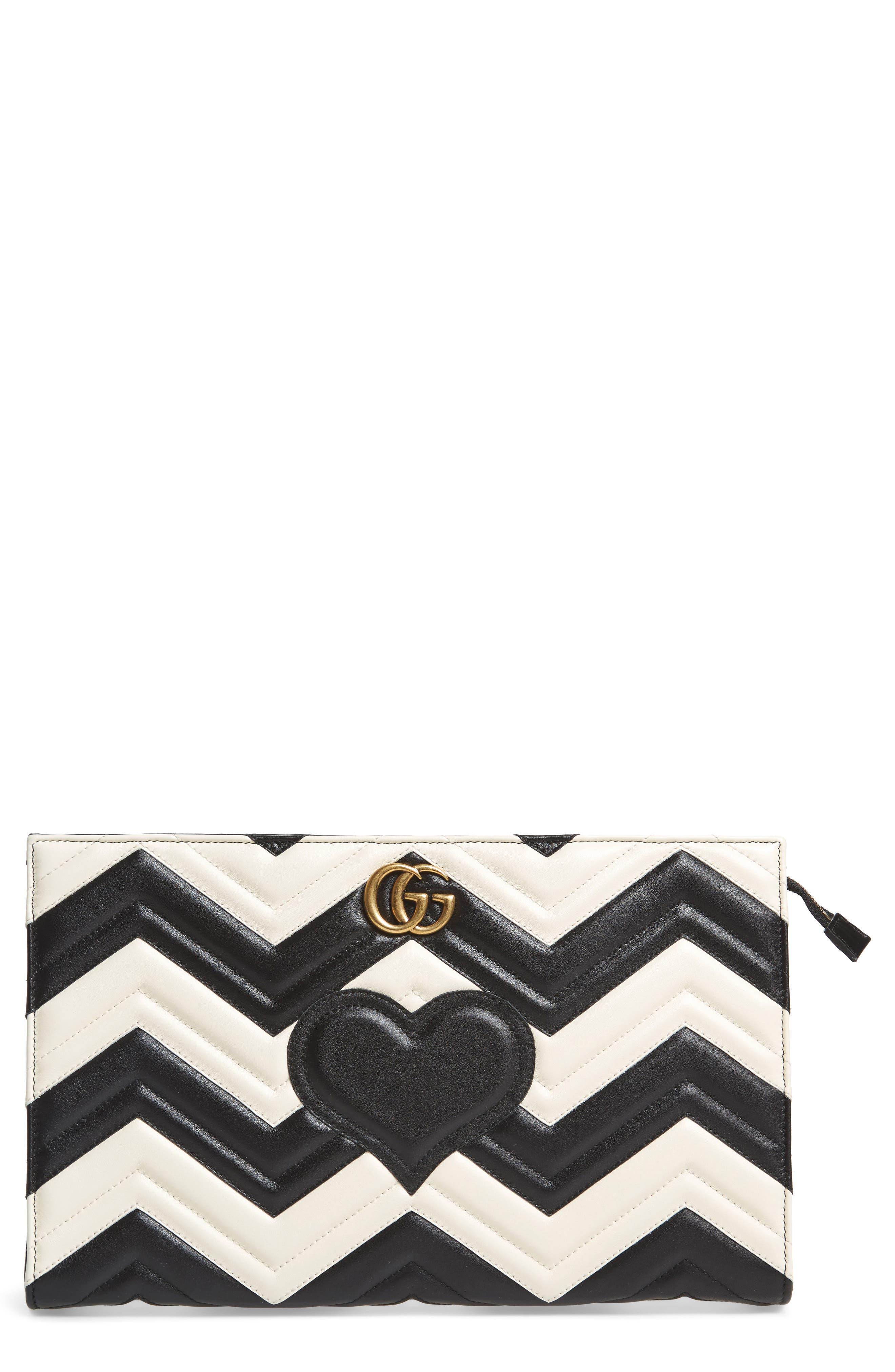 Main Image - Gucci GG Marmont Matelassé Leather Clutch