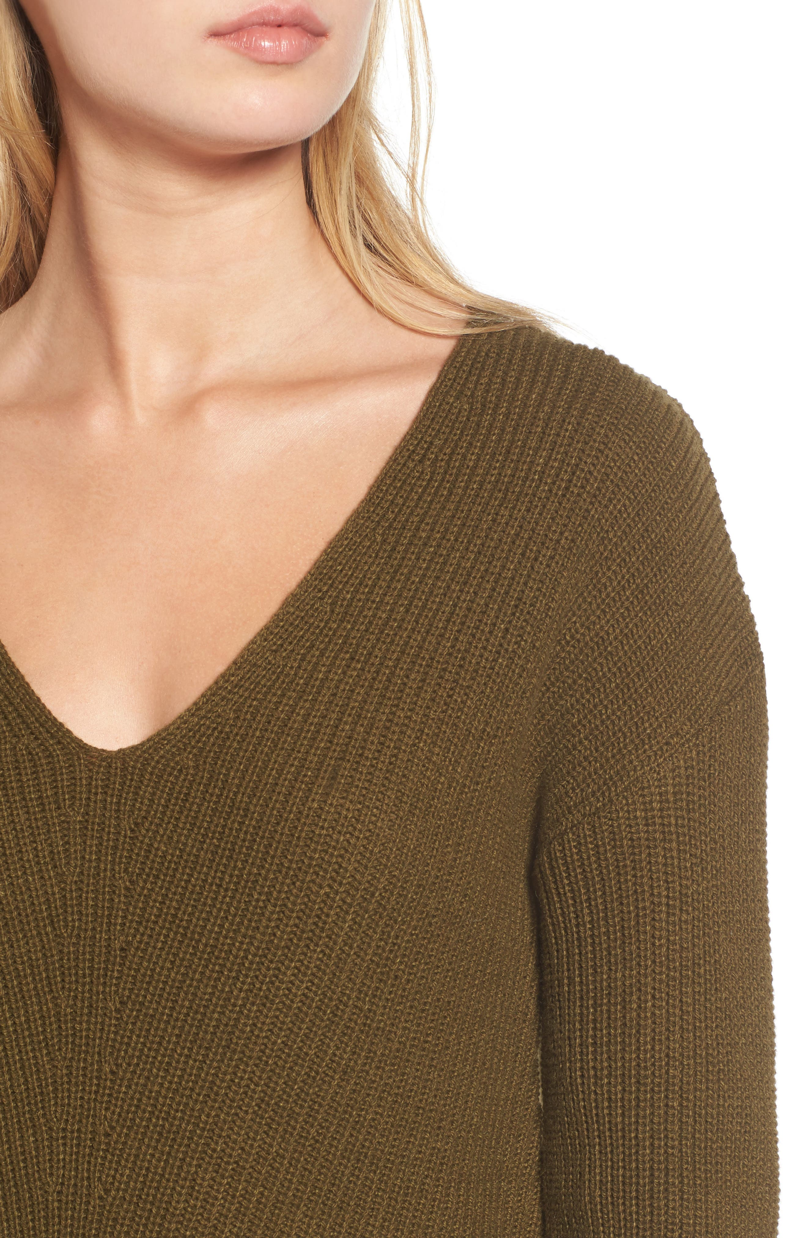 Alternate Image 4  - BP. V-Neck Sweater