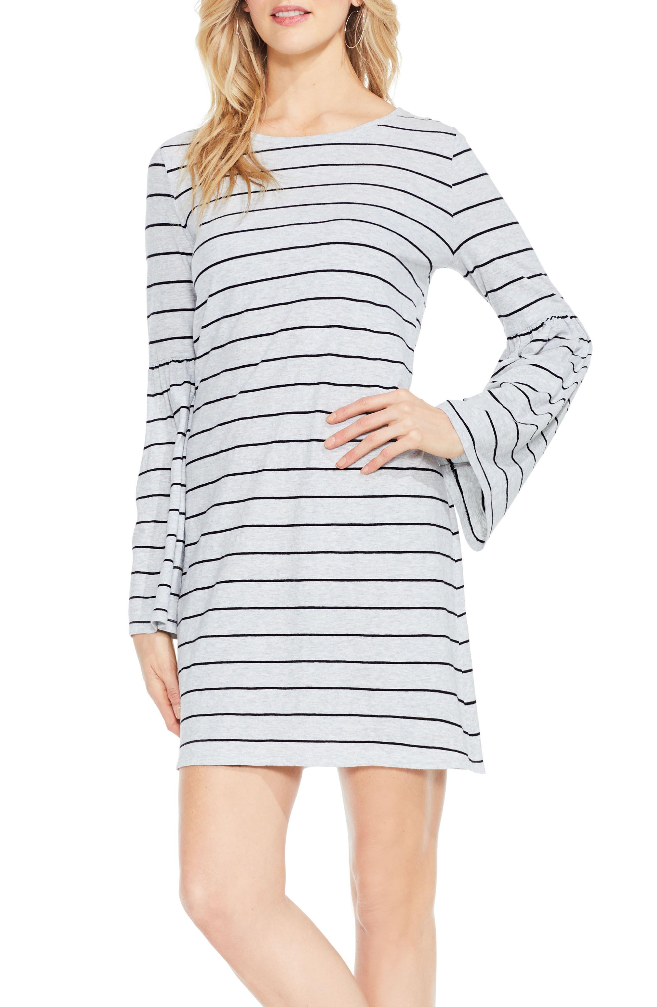 Two by Vince Camuto Nova Stripe Bell Sleeve Dress