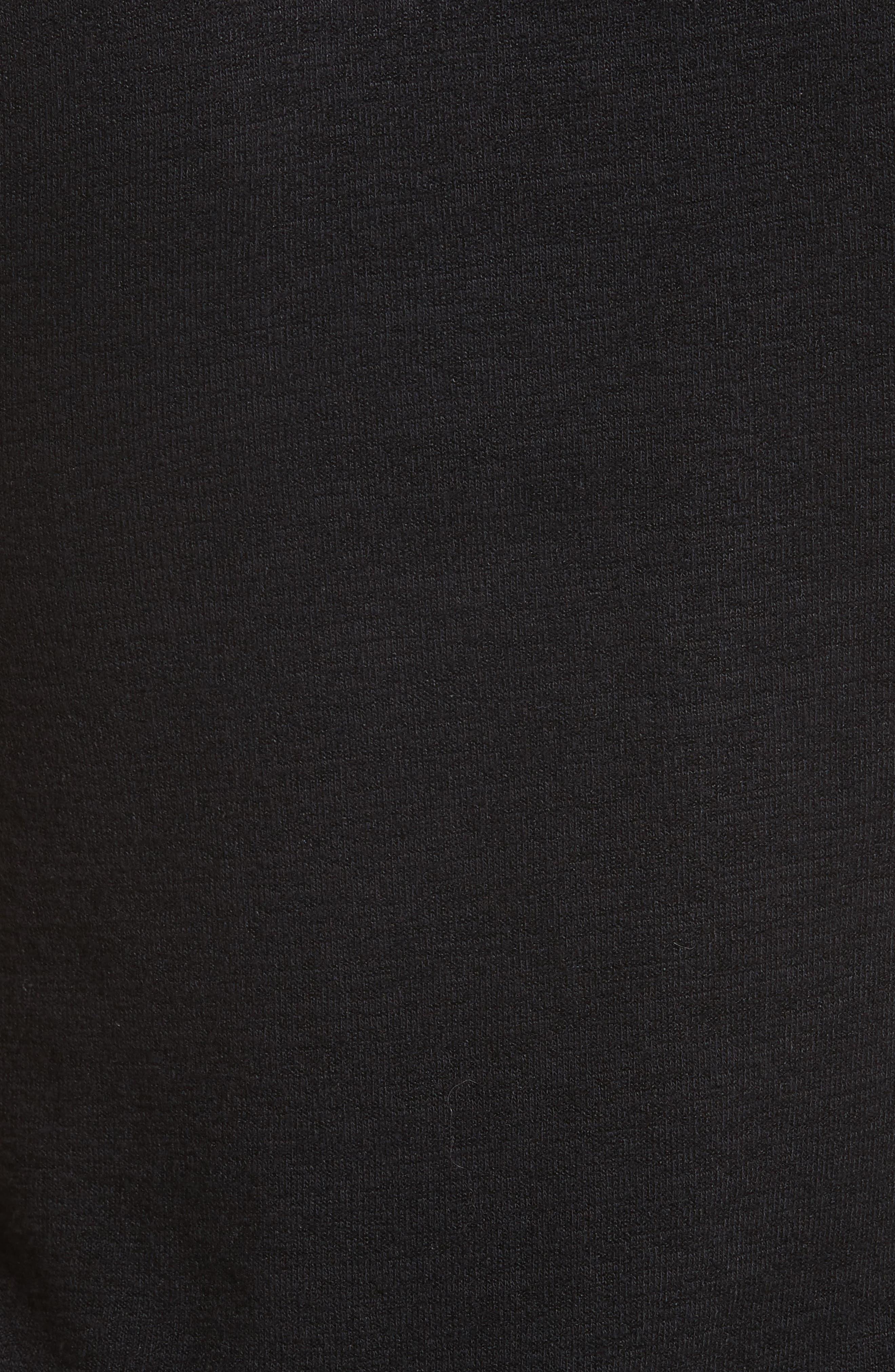Amelie Mock Neck Tank,                             Alternate thumbnail 5, color,                             Black