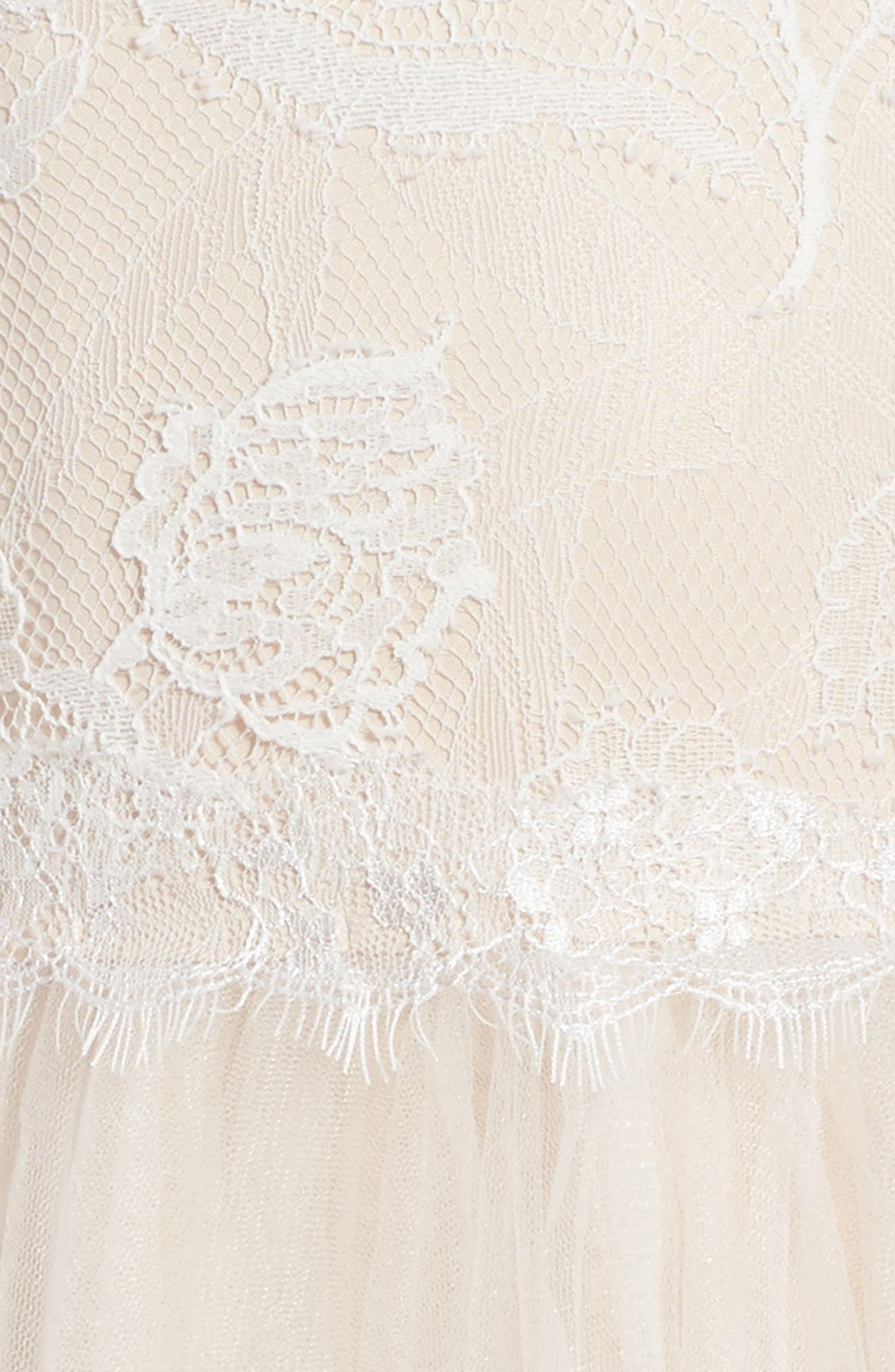 Alternate Image 3  - Tadashi Shoji Sleeveless Lace Dress (Toddler Girls, Little Girls & Big Girls)