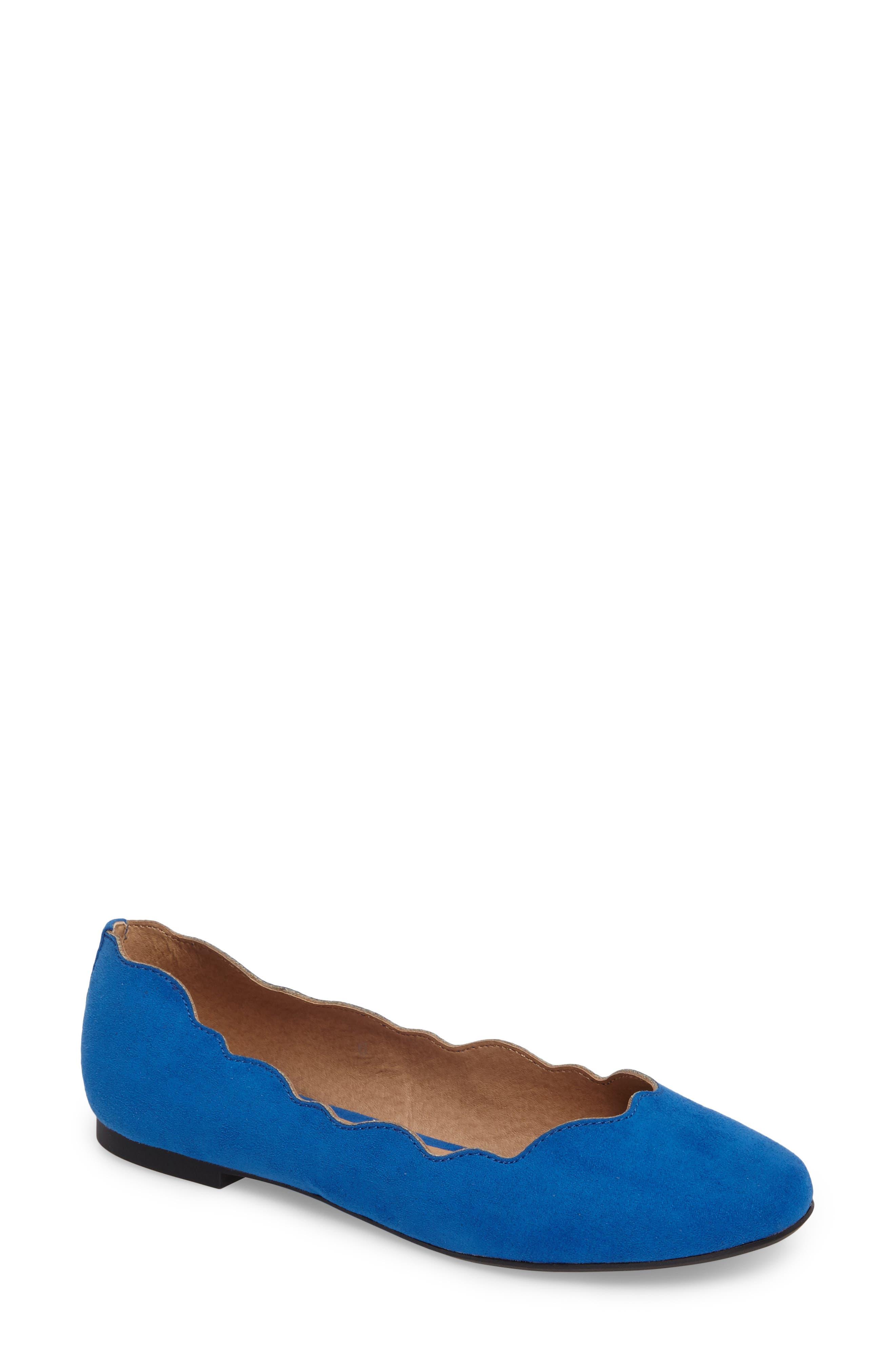Tallye Ballet Flat,                             Main thumbnail 1, color,                             Royal Blue Faux Suede