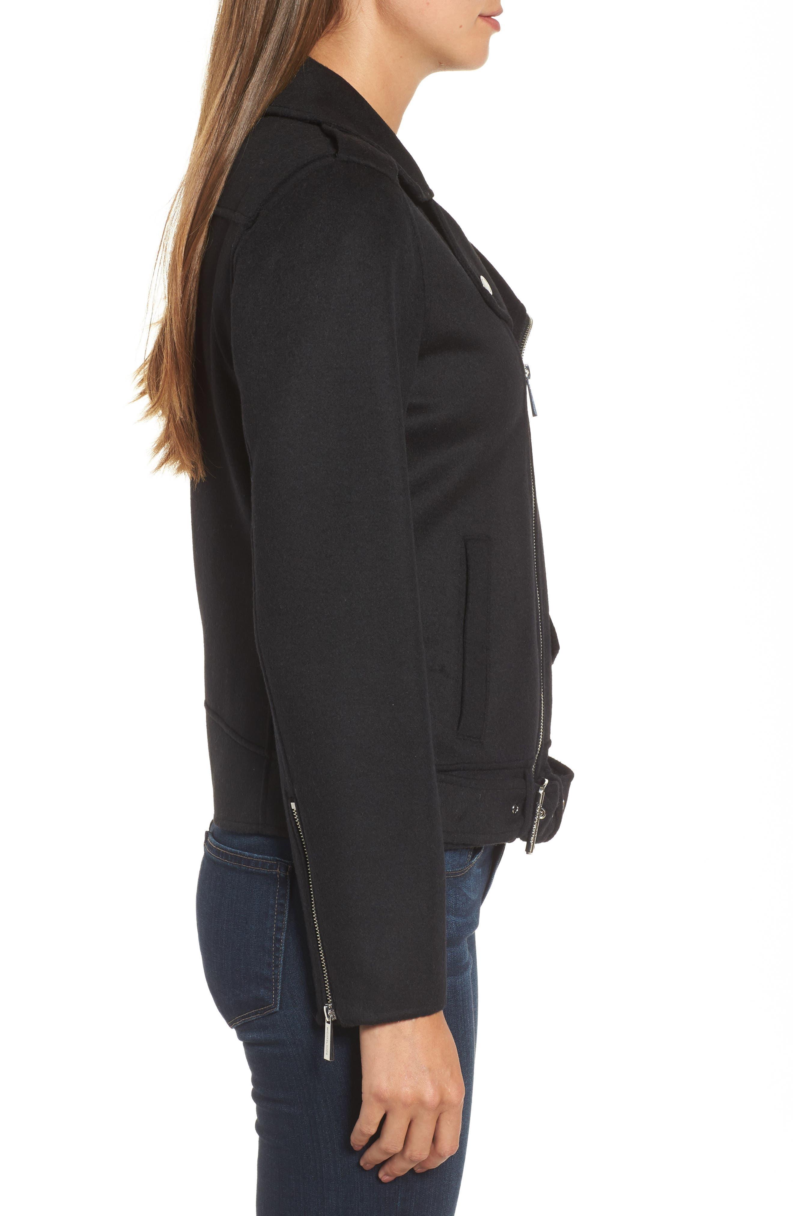Alternate Image 3  - MICHAEL Michael Kors Wool Blend Moto Jacket (Regular & Petite)