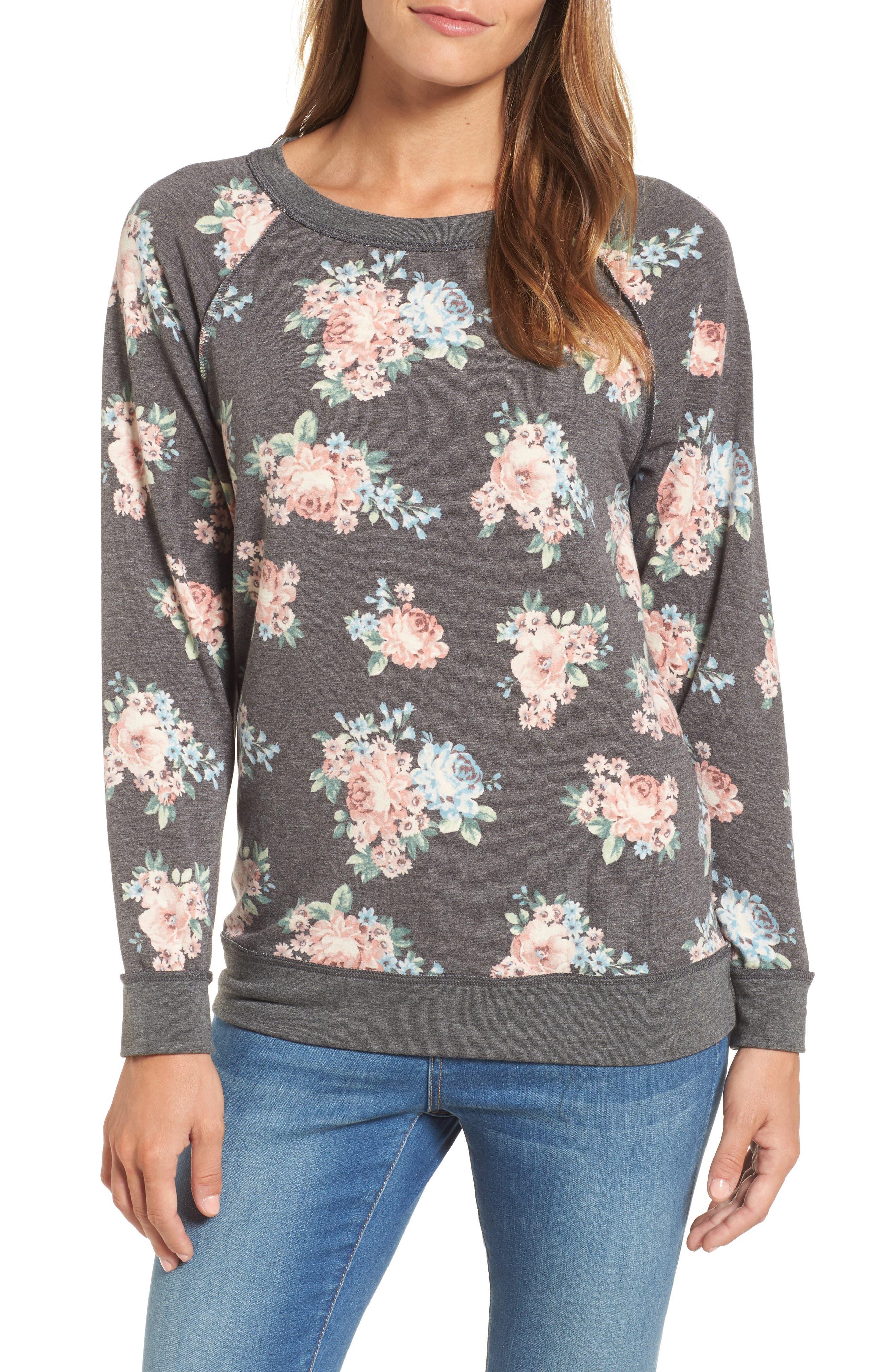 Caslon® Floral Print Sweatshirt