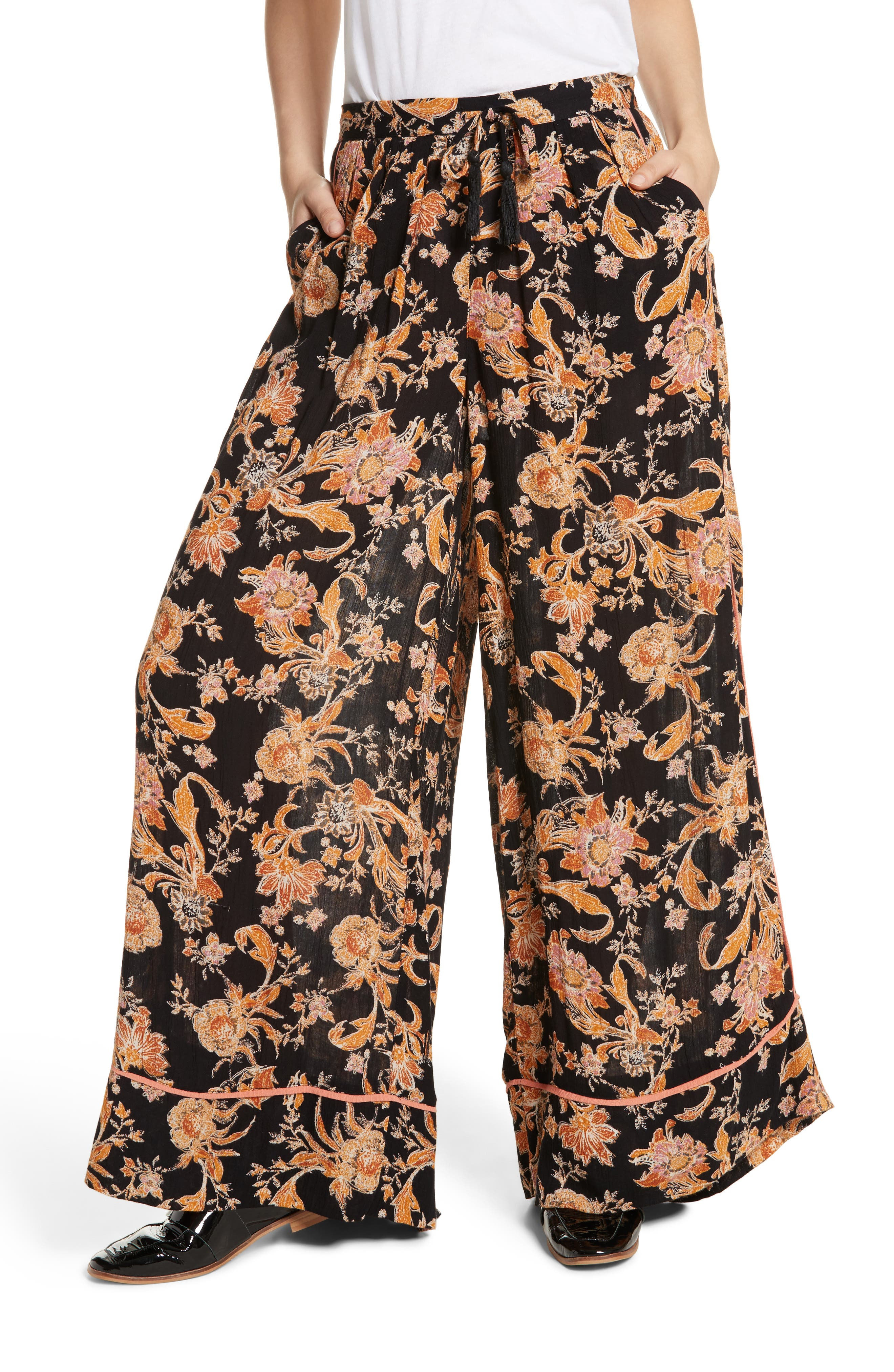 Alternate Image 1 Selected - Free People Bali Wildflower Wide Leg Pants