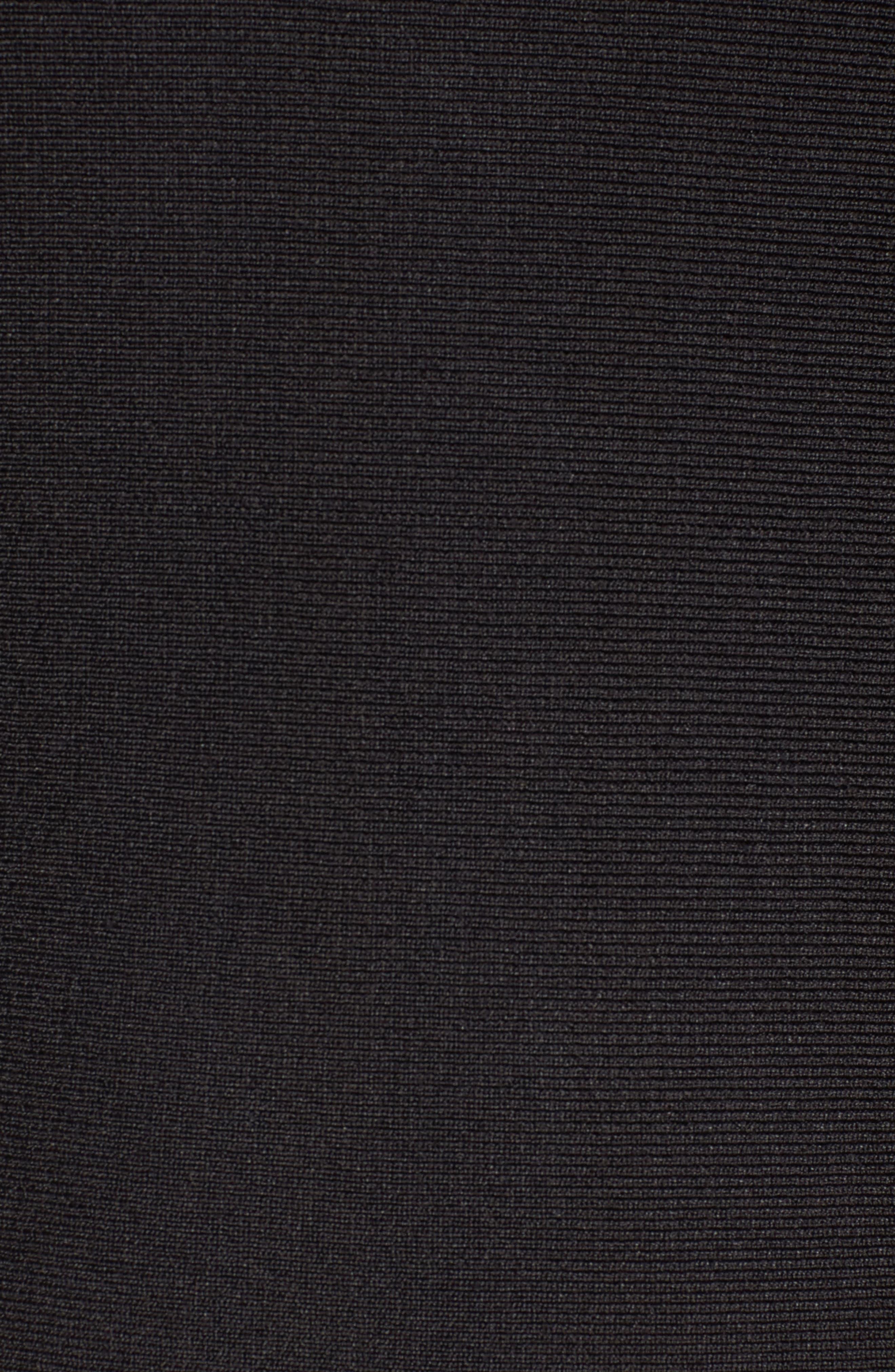 Flared Hem Midi Dress,                             Alternate thumbnail 5, color,                             Black Onyx