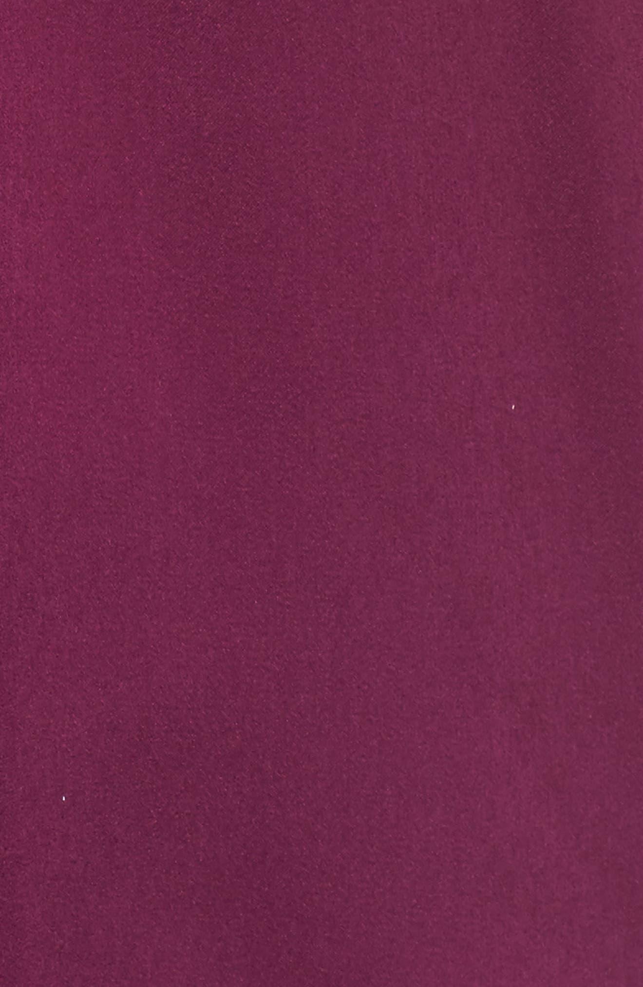Asymmetrical Ruffle Top,                             Alternate thumbnail 5, color,                             Purple Dark