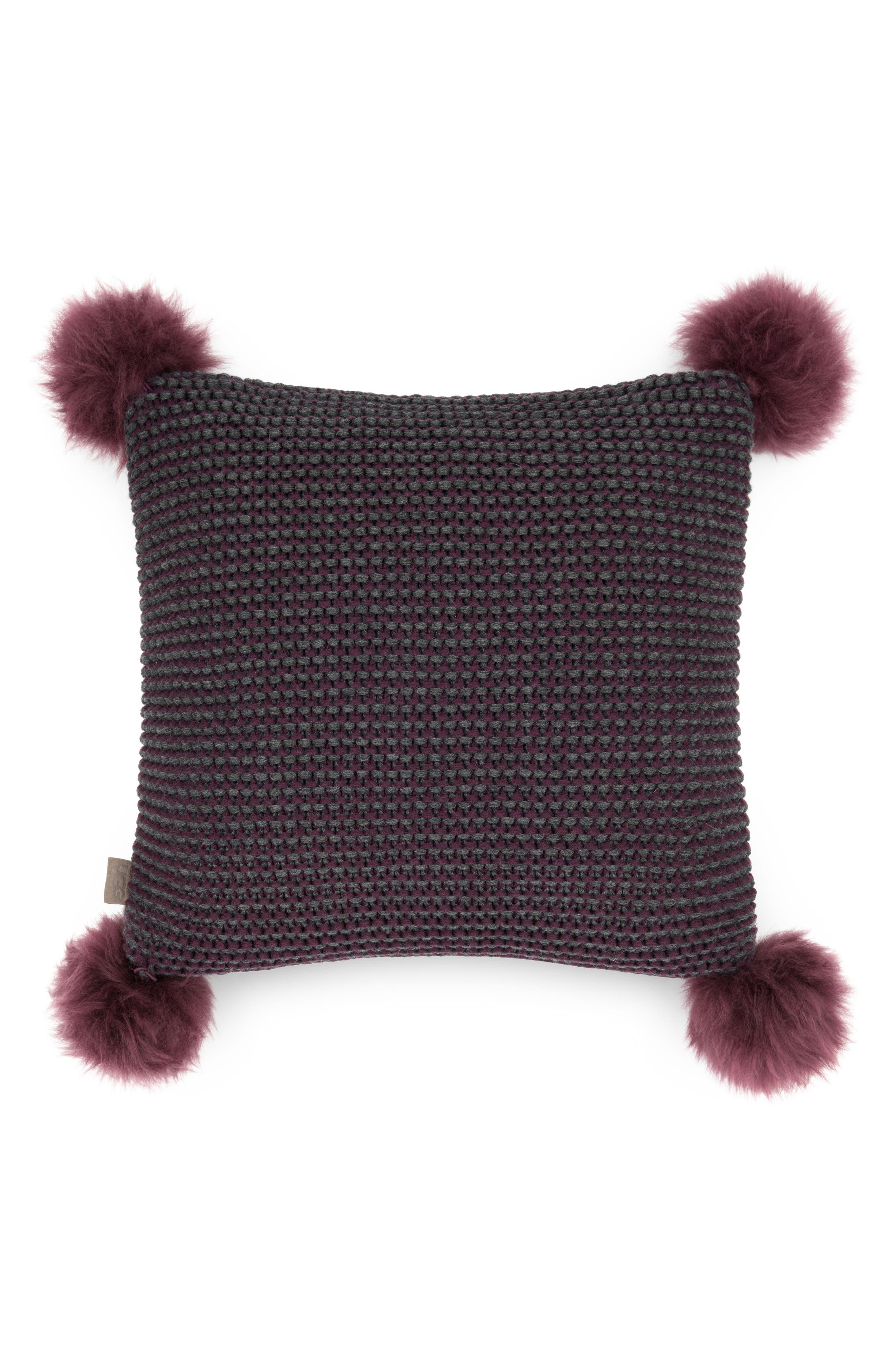 Alternate Image 1 Selected - UGG® Snow Creek Genuine Shearling Pillow
