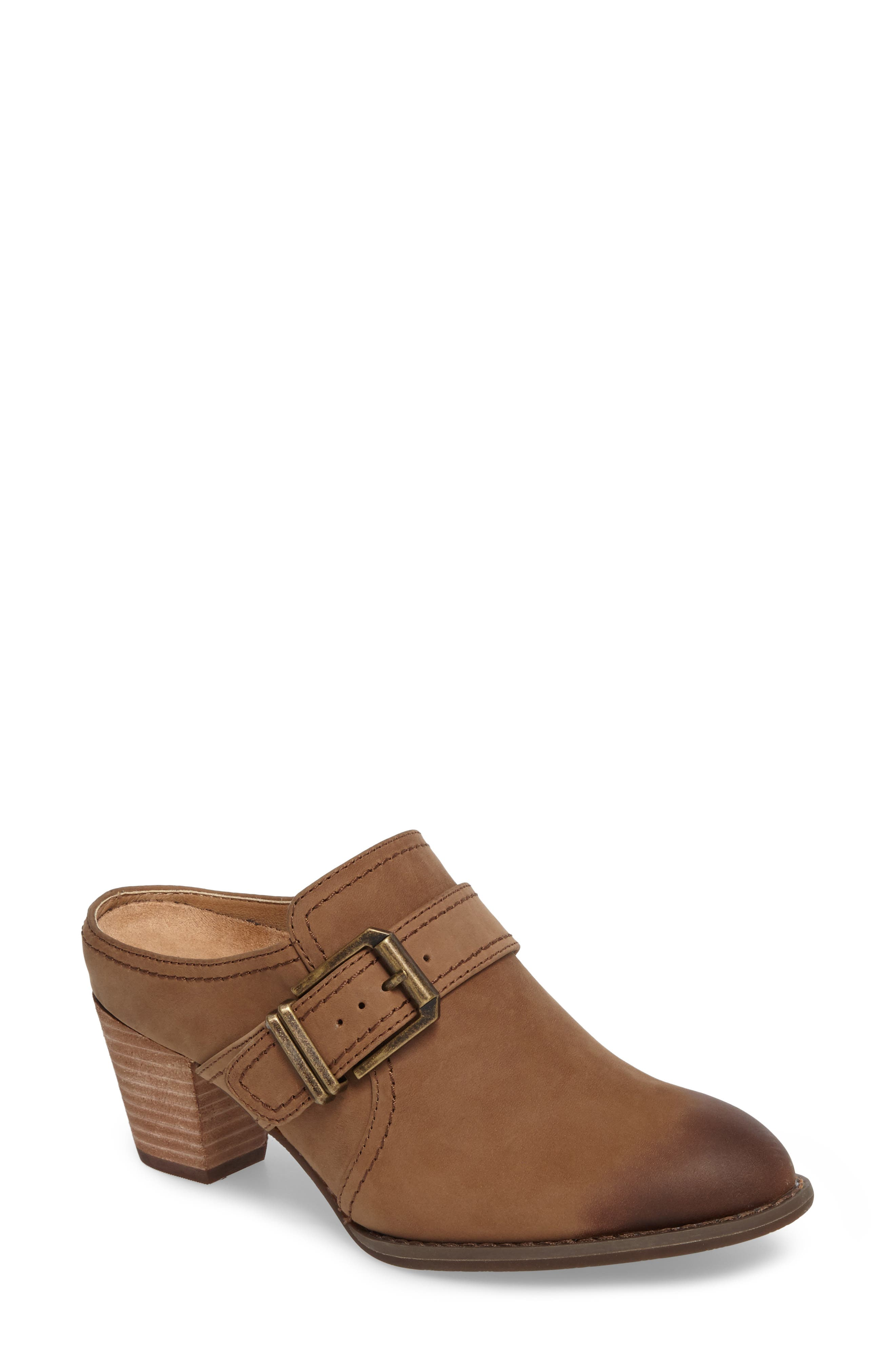 Cheyenne Mule,                             Main thumbnail 1, color,                             Brown Leather