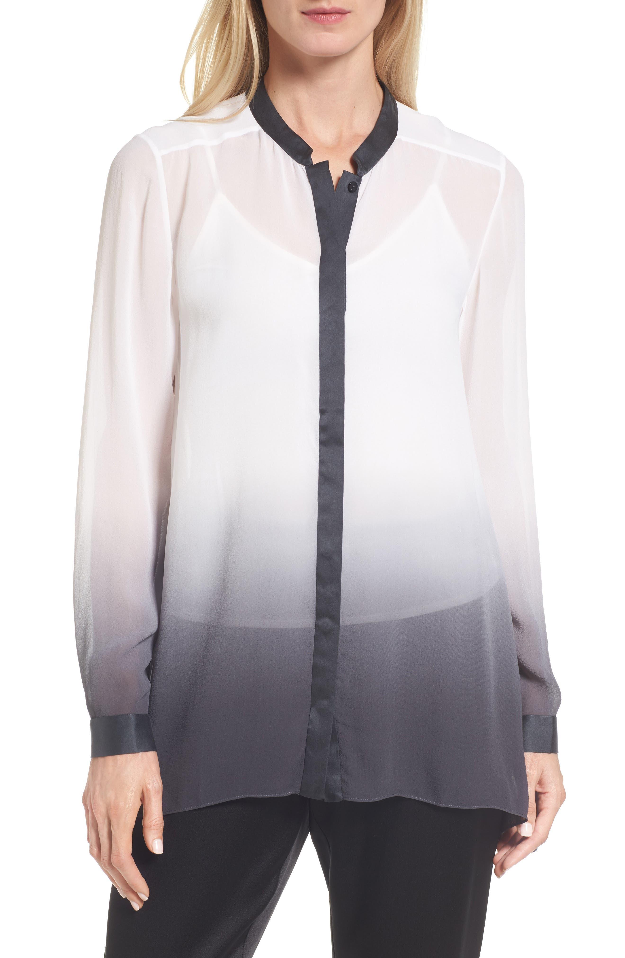Eileen Fisher Ombré Silk Blouse