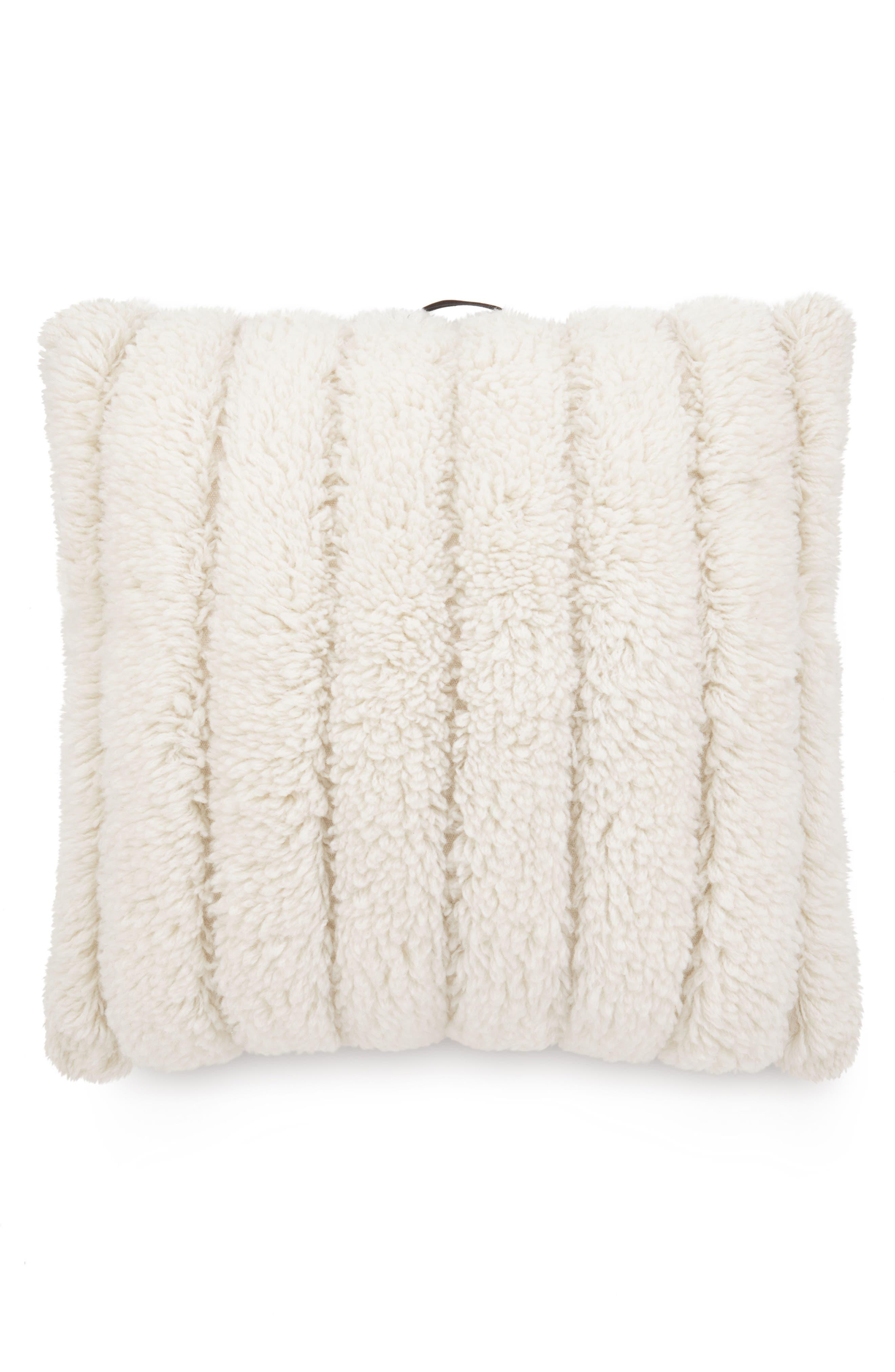 Tufty Yarn Pillow,                             Main thumbnail 1, color,                             Natural