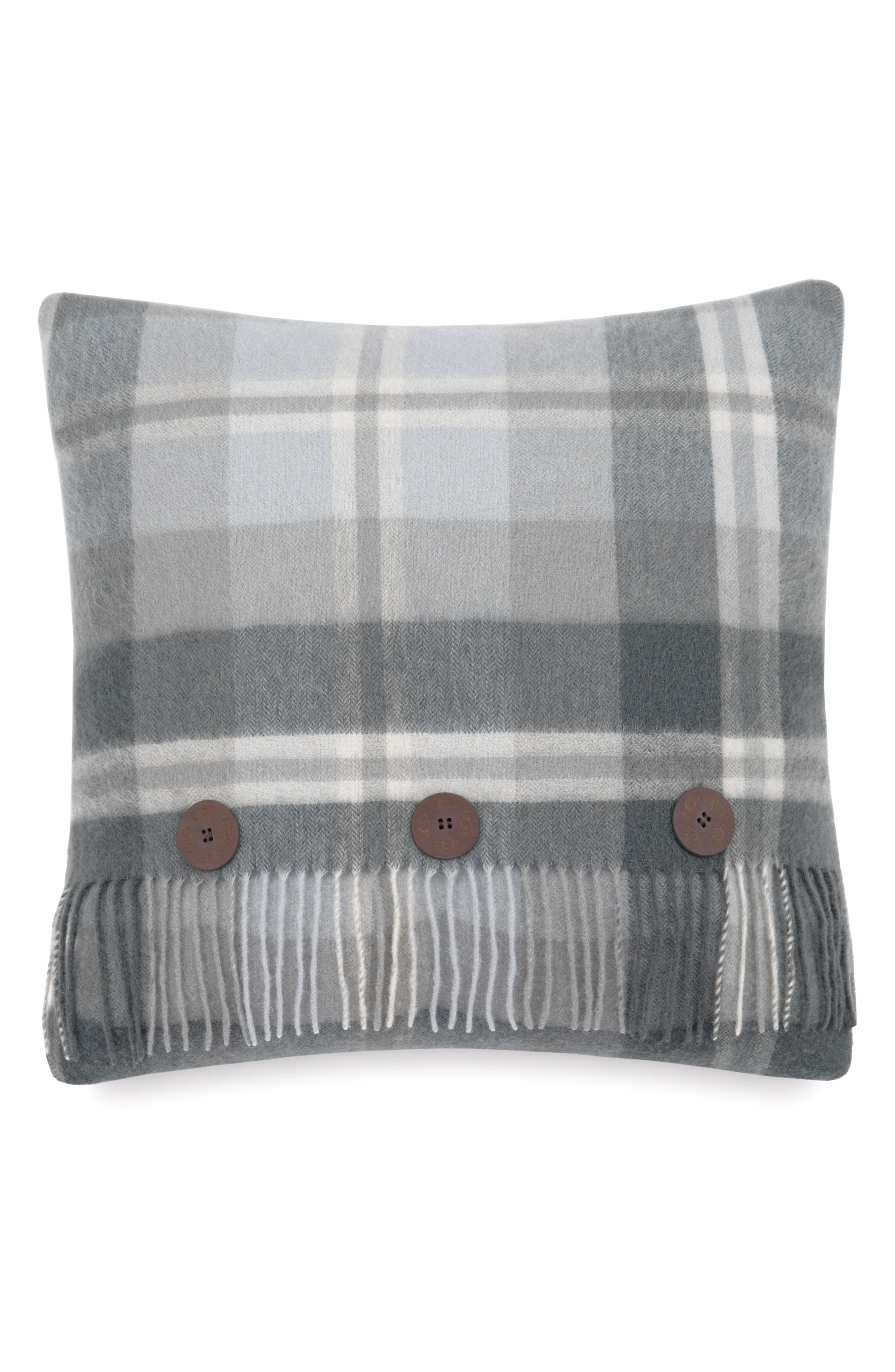 Glacier Plaid Pillow,                         Main,                         color, Grey Multi