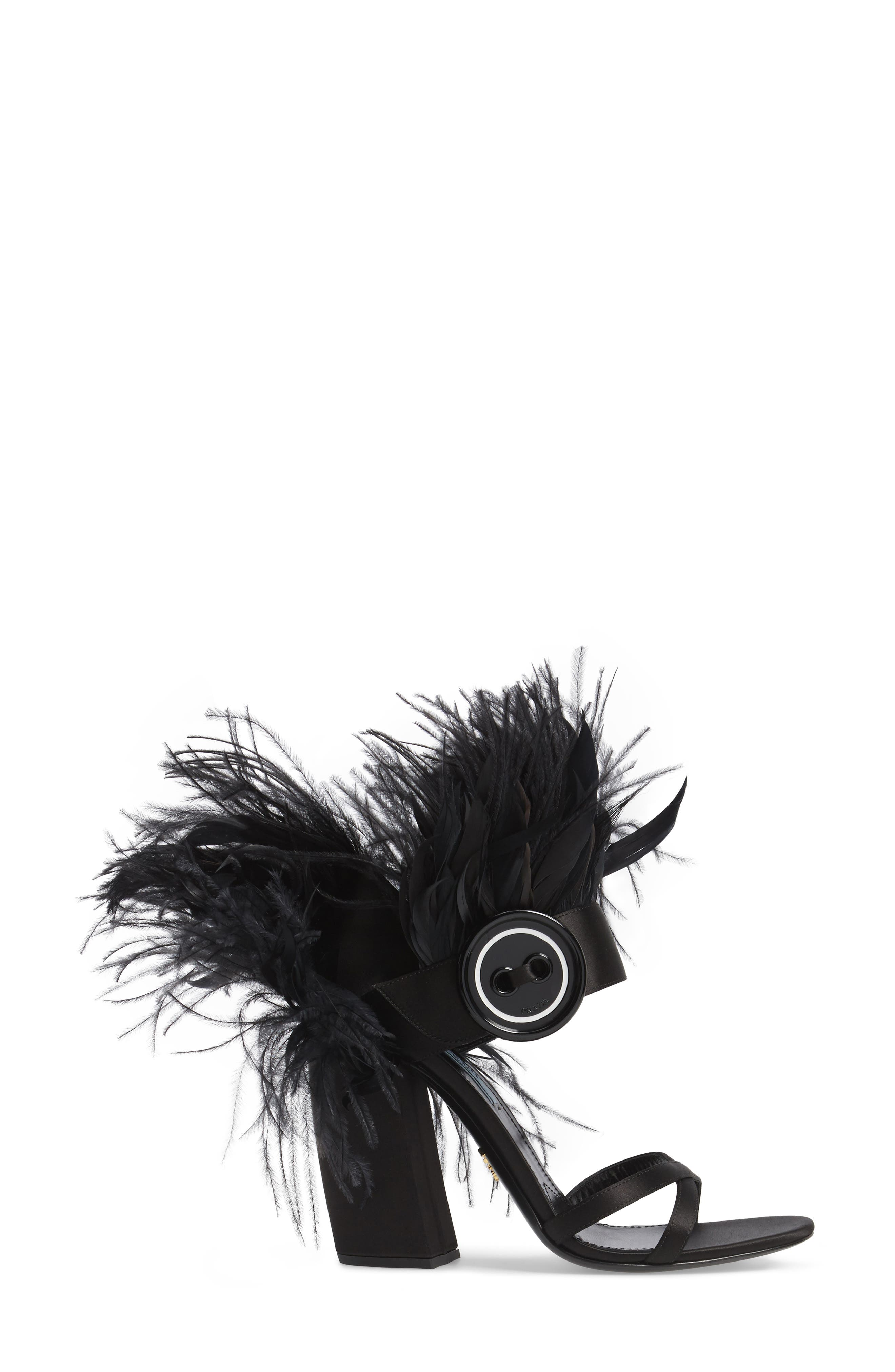 Alternate Image 3  - Prada Feather Block Heel Sandal (Women)